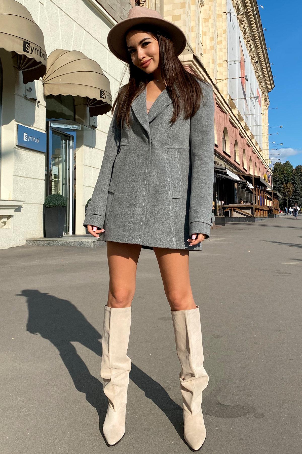 Пальто Смарта 6395 АРТ. 41427 Цвет: Серый 18 - фото 2, интернет магазин tm-modus.ru