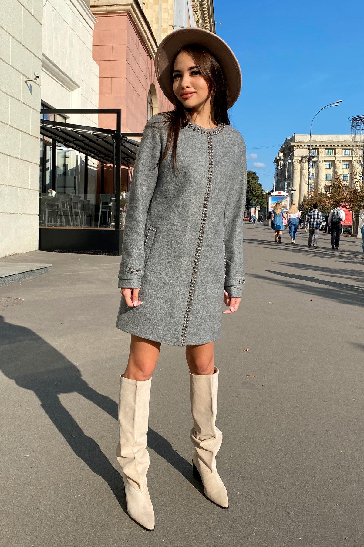 Пальто Анси 4544 АРТ. 21596 Цвет: Серый 18 - фото 1, интернет магазин tm-modus.ru