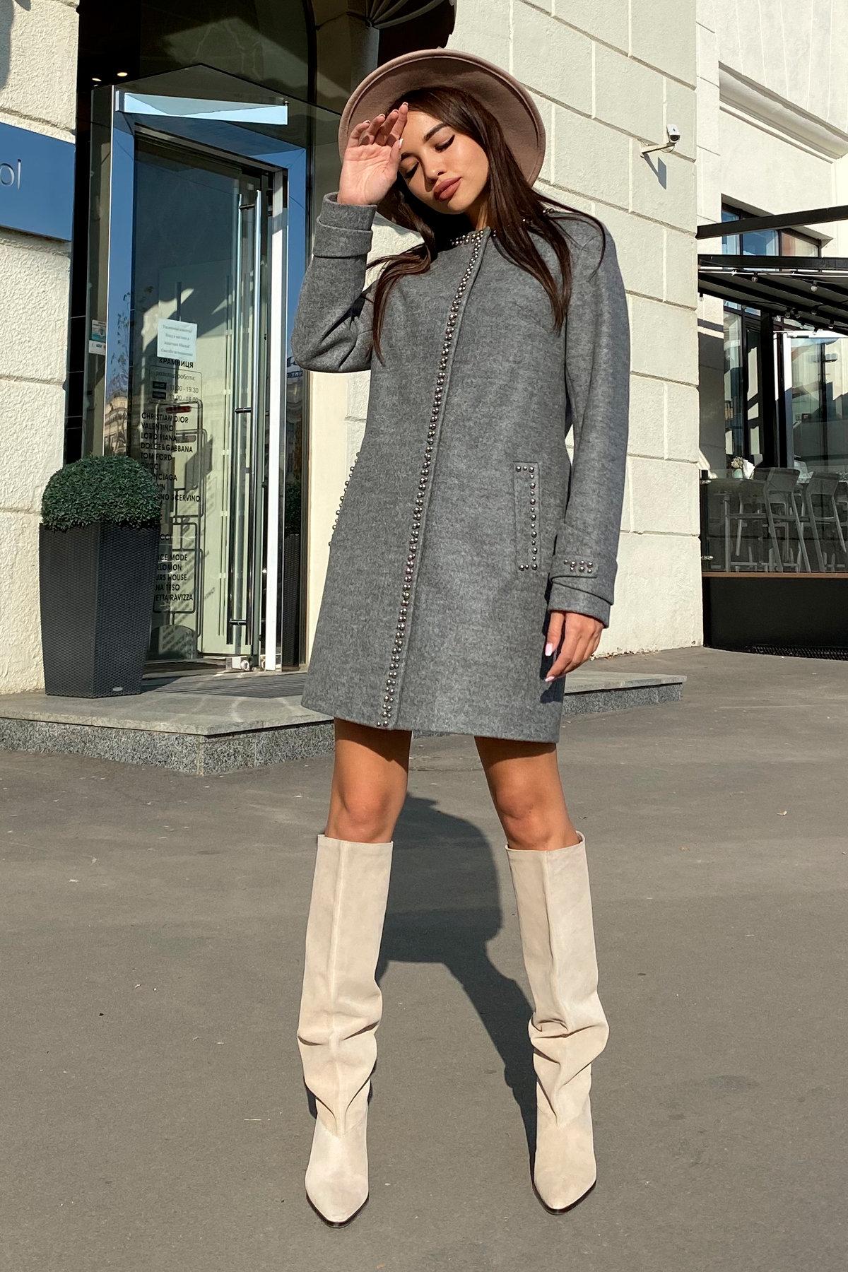 Пальто Анси 4544 АРТ. 21596 Цвет: Серый 18 - фото 2, интернет магазин tm-modus.ru