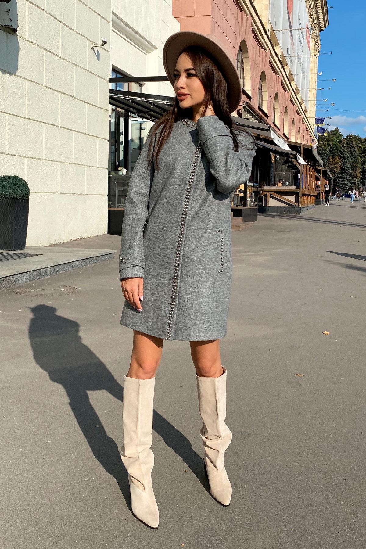 Пальто Анси 4544 АРТ. 21596 Цвет: Серый 18 - фото 4, интернет магазин tm-modus.ru