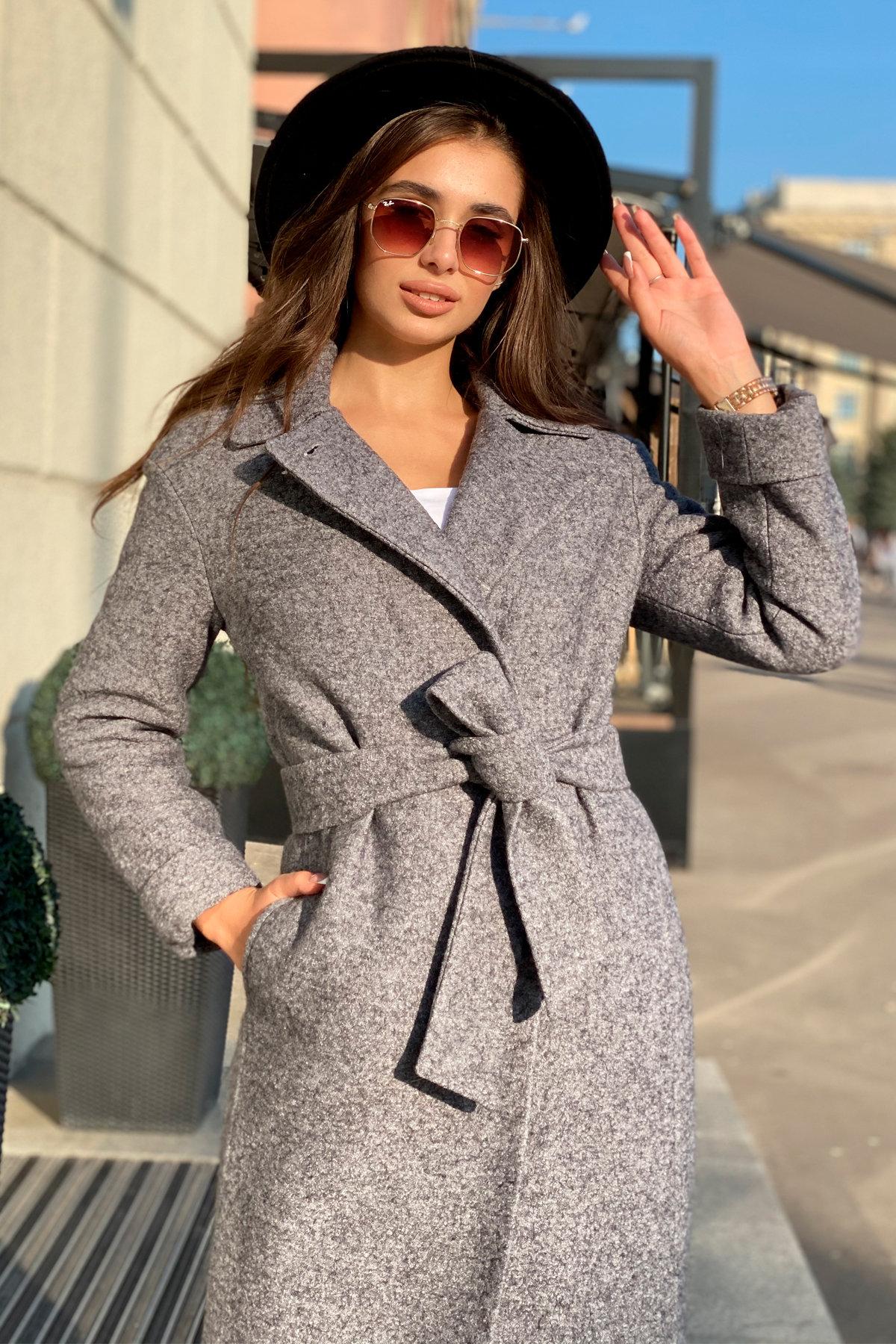 Пальто зима Богема 5426 Цвет: Серый Темный LW-47