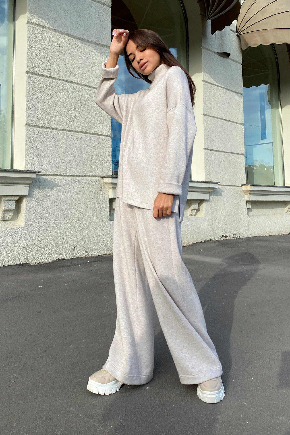 Лав Ю костюм из ангоры 9806 АРТ. 46093 Цвет: Бежевый - фото 4, интернет магазин tm-modus.ru