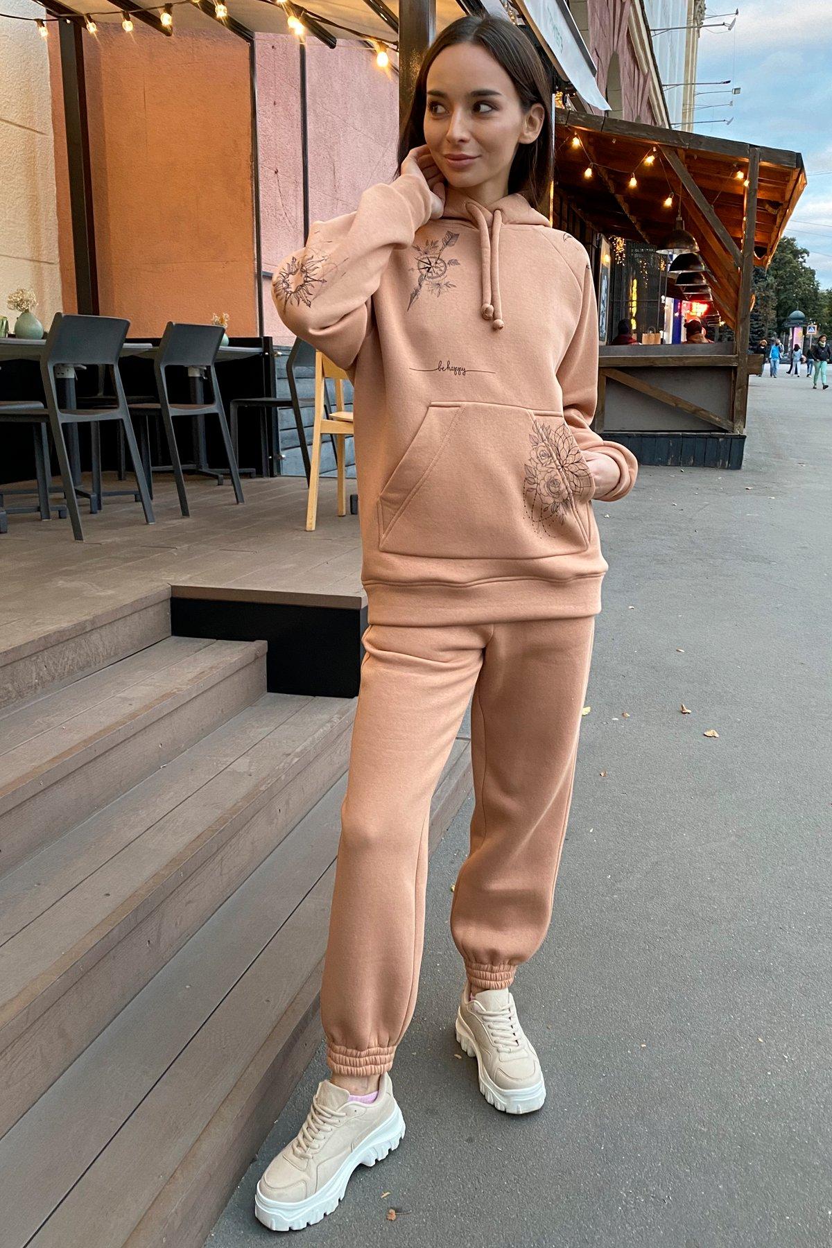 Тату костюм на флисе Oversize 9815 АРТ. 46099 Цвет: Кемел - фото 4, интернет магазин tm-modus.ru