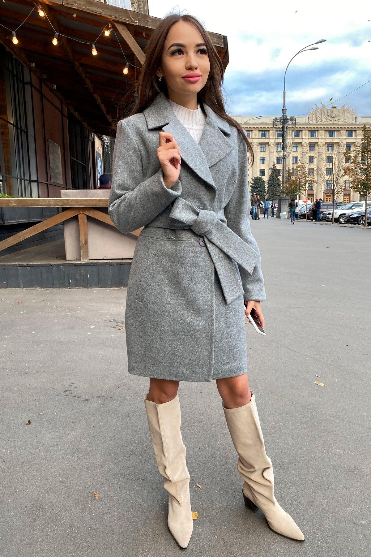Пальто Габриэлла 7823 АРТ. 43703 Цвет: Серый 1 - фото 4, интернет магазин tm-modus.ru