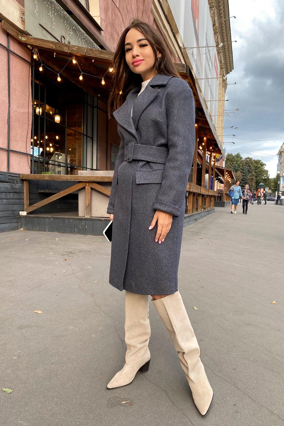 Зимнее пальто с отложным воротником Моле 8085 АРТ. 44036 Цвет: Т.синий 543 - фото 5, интернет магазин tm-modus.ru