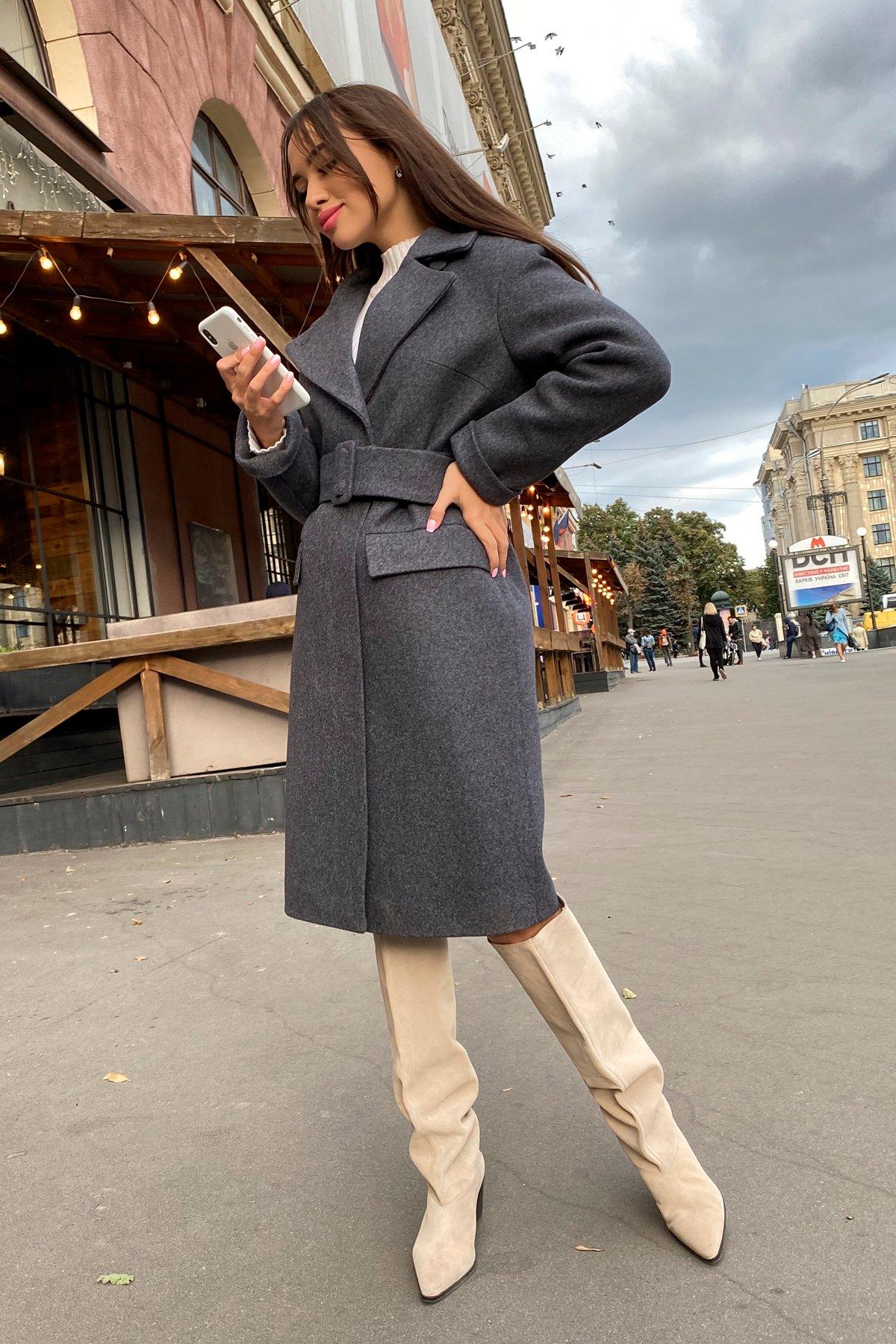 Зимнее пальто с отложным воротником Моле 8085 АРТ. 44036 Цвет: Т.синий 543 - фото 8, интернет магазин tm-modus.ru