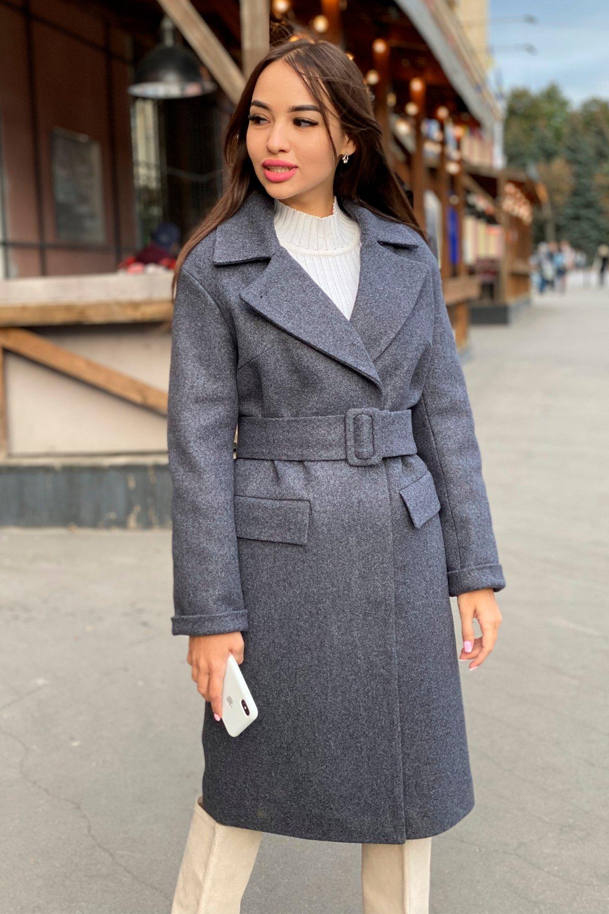 Зимнее пальто в Украине Зимнее пальто с отложным воротником Моле 8085