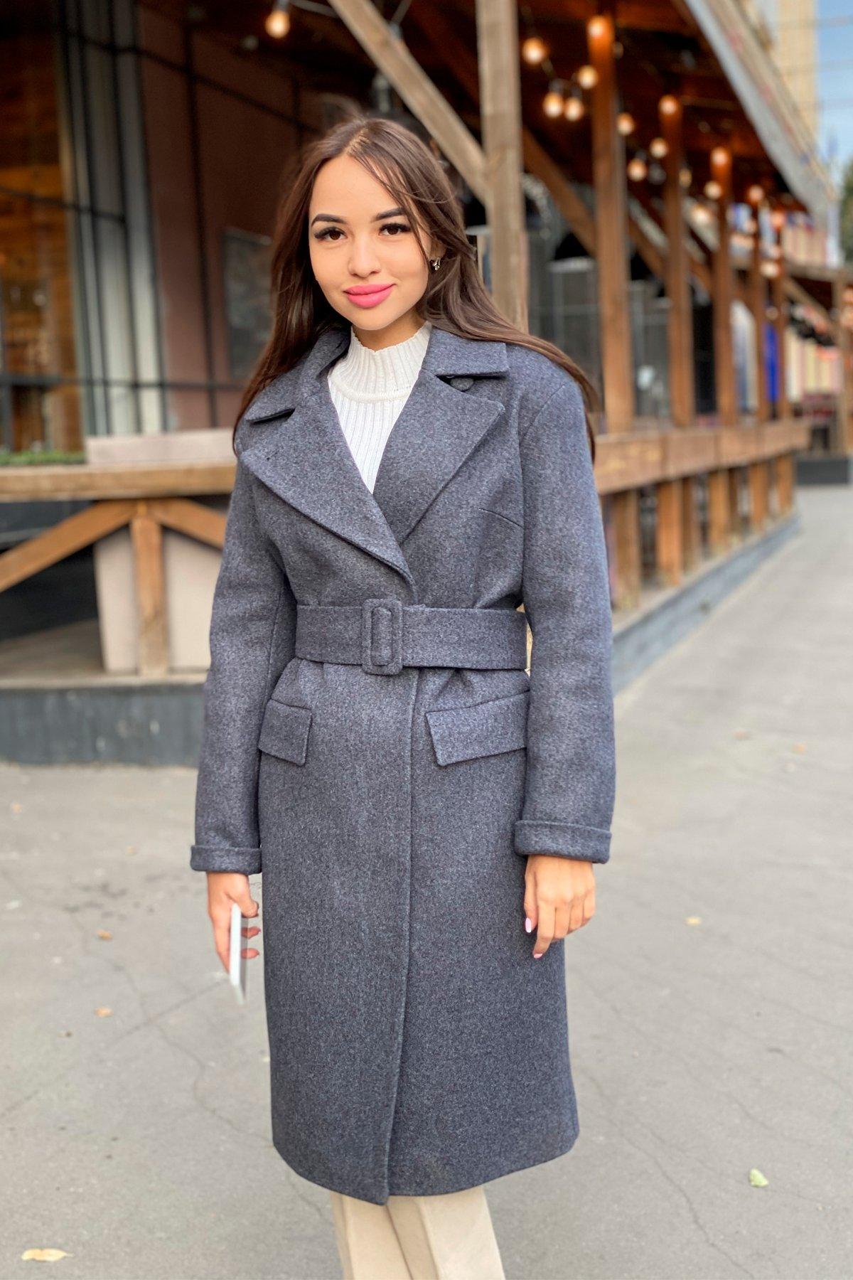 Зимнее пальто с отложным воротником Моле 8085 АРТ. 44036 Цвет: Т.синий 543 - фото 14, интернет магазин tm-modus.ru