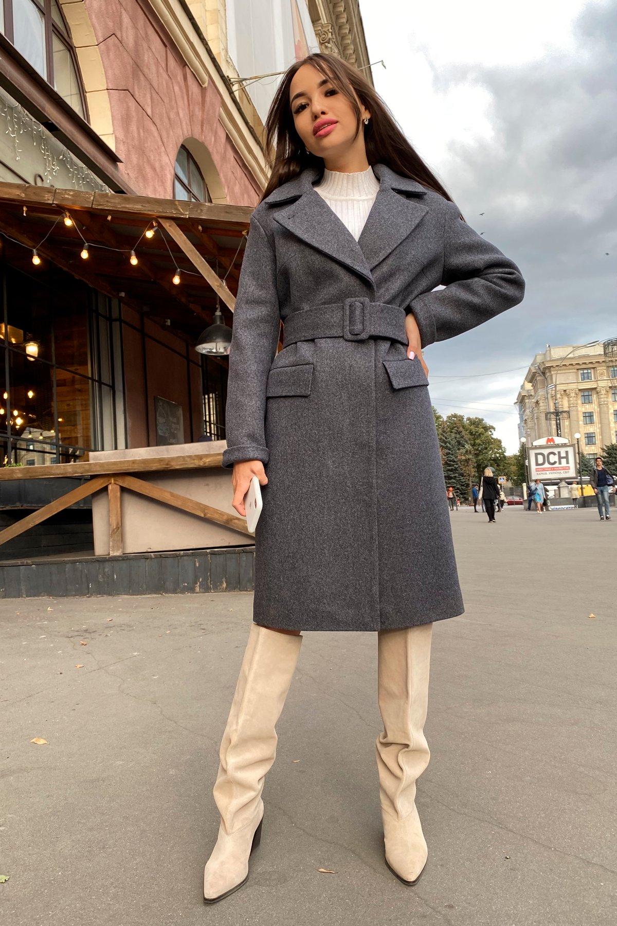 Зимнее пальто с отложным воротником Моле 8085 АРТ. 44036 Цвет: Т.синий 543 - фото 3, интернет магазин tm-modus.ru