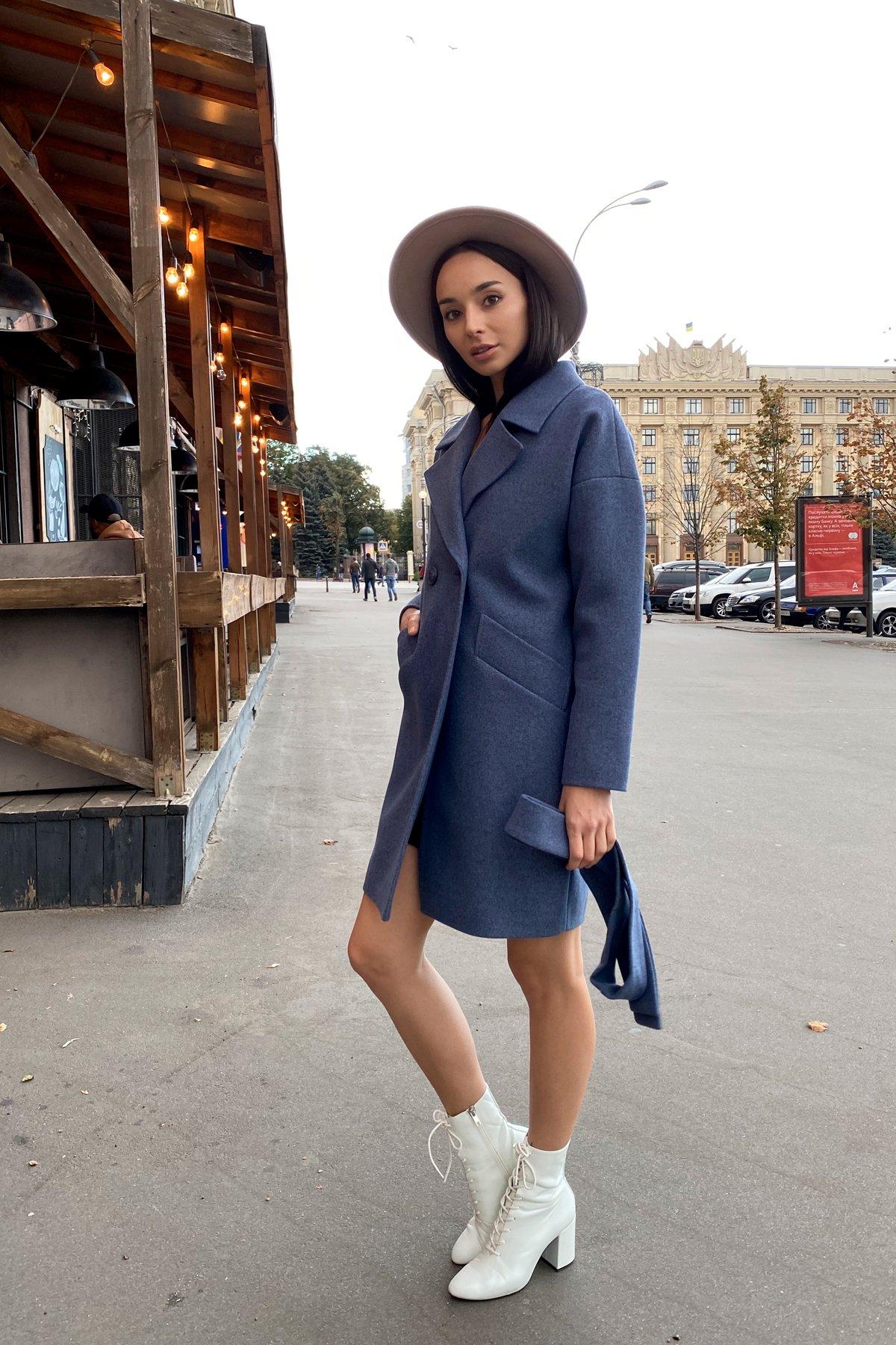 Пальто Сенсей 9057 АРТ. 45371 Цвет: Джинс 41 - фото 5, интернет магазин tm-modus.ru