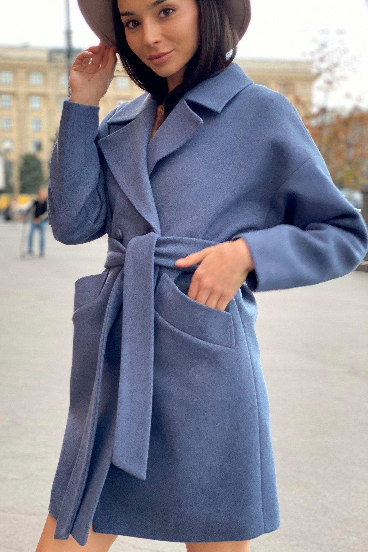 Пальто Сенсей 9057 АРТ. 45371 Цвет: Джинс 41 - фото 11, интернет магазин tm-modus.ru