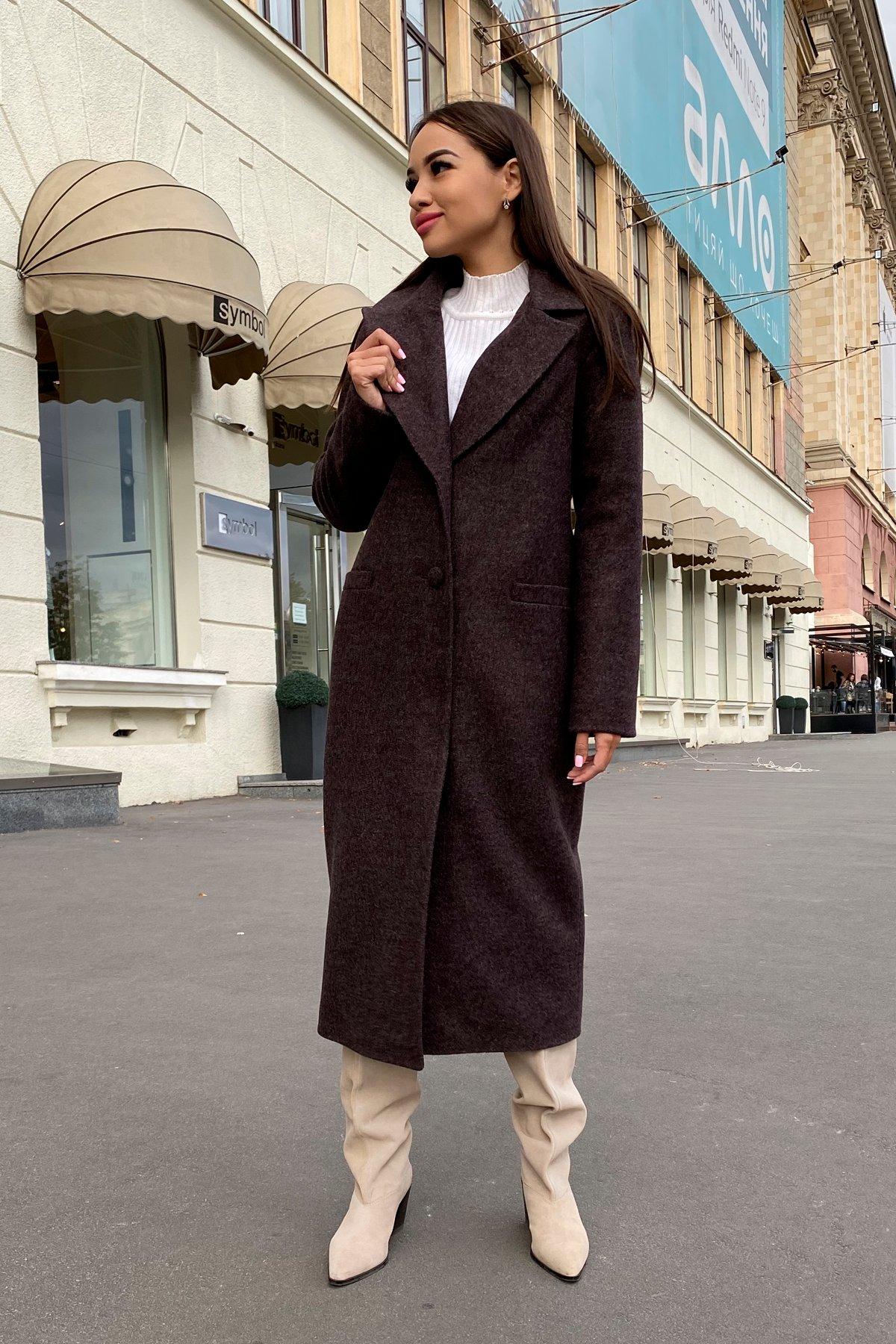 Длинное пальто зима Вива макси 8341 АРТ. 44495 Цвет: Шоколад 7 - фото 2, интернет магазин tm-modus.ru