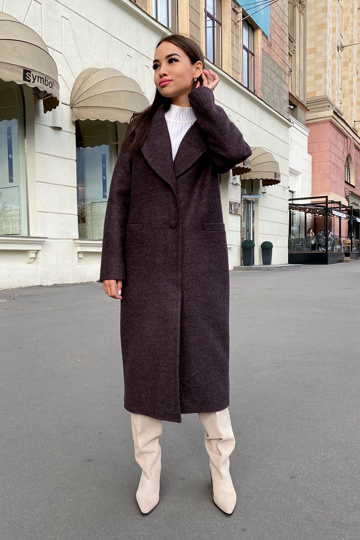 Длинное пальто зима Вива макси 8341 АРТ. 44495 Цвет: Шоколад 7 - фото 5, интернет магазин tm-modus.ru