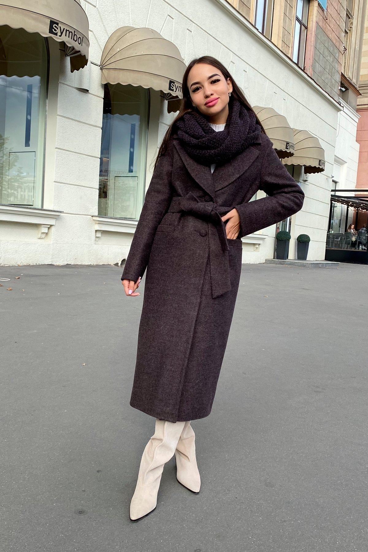 Длинное пальто зима Вива макси 8341 АРТ. 44495 Цвет: Шоколад 7 - фото 8, интернет магазин tm-modus.ru
