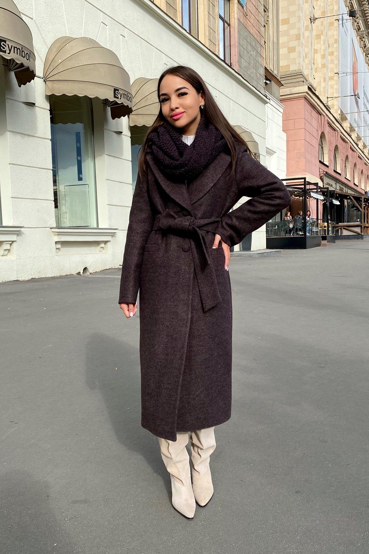 Длинное пальто зима Вива макси 8341 АРТ. 44495 Цвет: Шоколад 7 - фото 14, интернет магазин tm-modus.ru