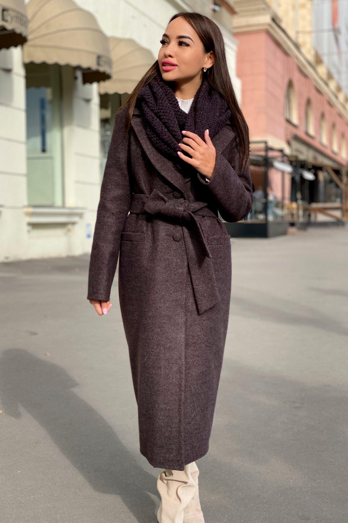 Длинное пальто зима Вива макси 8341 АРТ. 44495 Цвет: Шоколад 7 - фото 12, интернет магазин tm-modus.ru