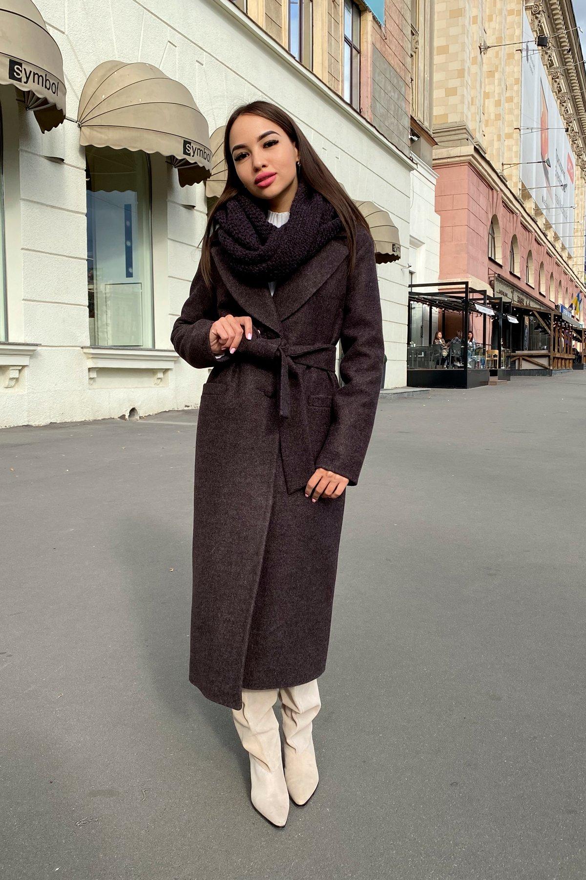 Длинное пальто зима Вива макси 8341 АРТ. 44495 Цвет: Шоколад 7 - фото 18, интернет магазин tm-modus.ru