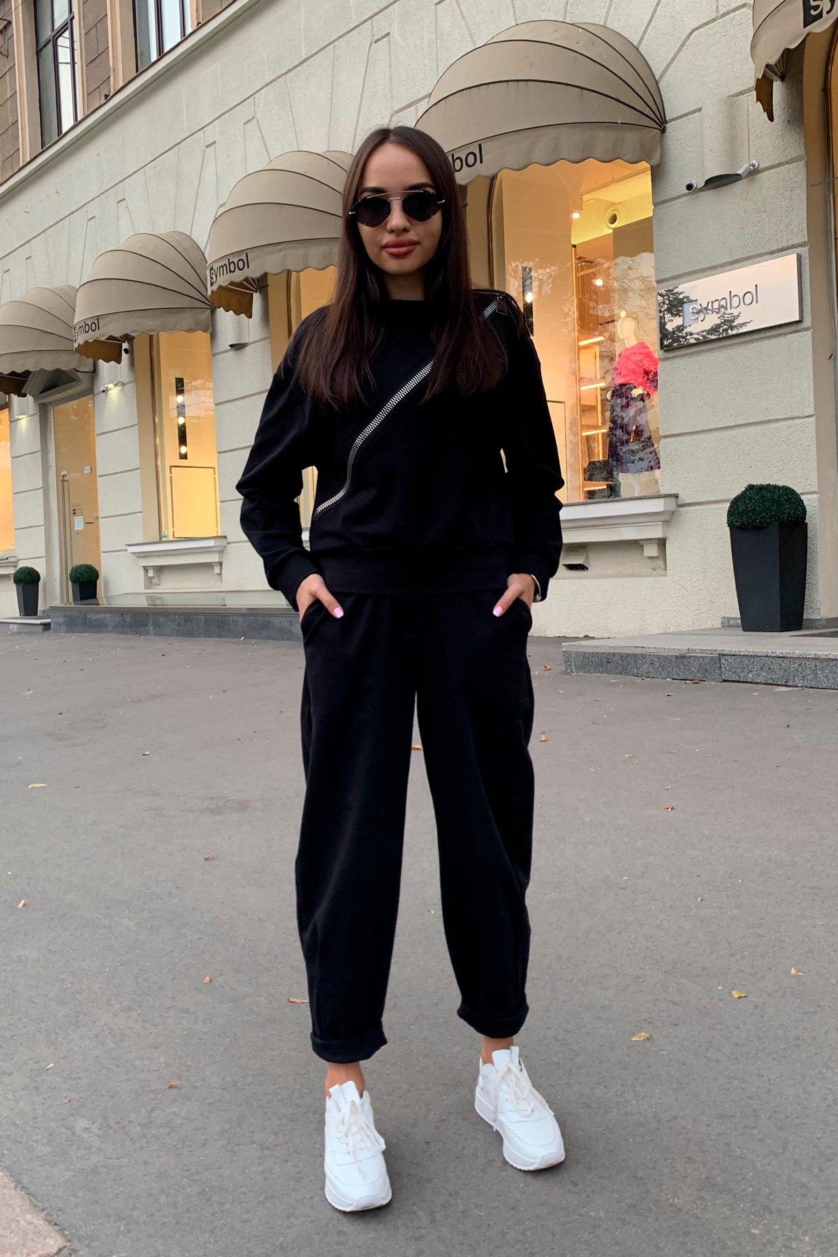 Дизель трикотаж 3х нитка костюм 9714 АРТ. 46019 Цвет: Черный - фото 1, интернет магазин tm-modus.ru