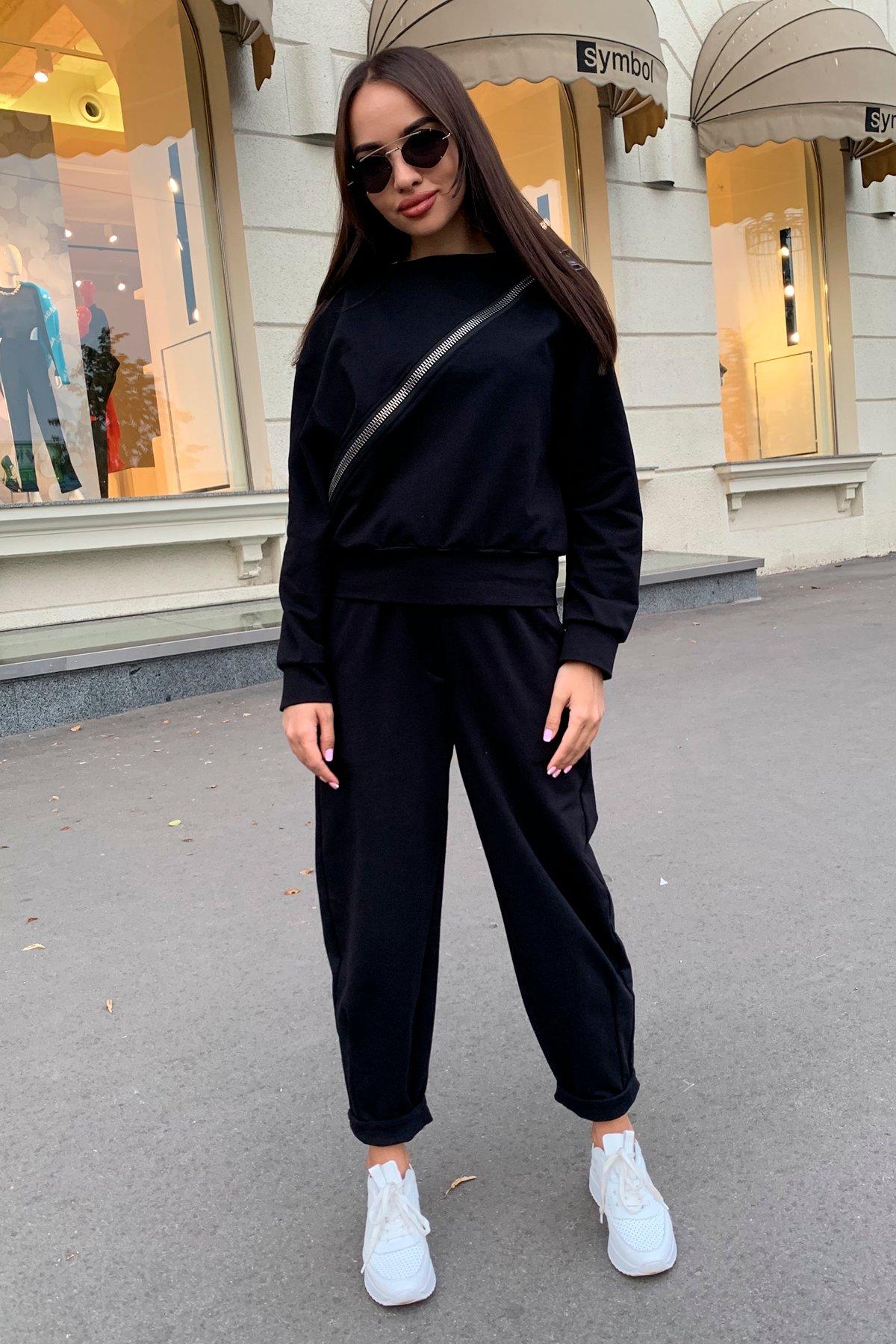 Дизель трикотаж 3х нитка костюм 9714 АРТ. 46019 Цвет: Черный - фото 3, интернет магазин tm-modus.ru