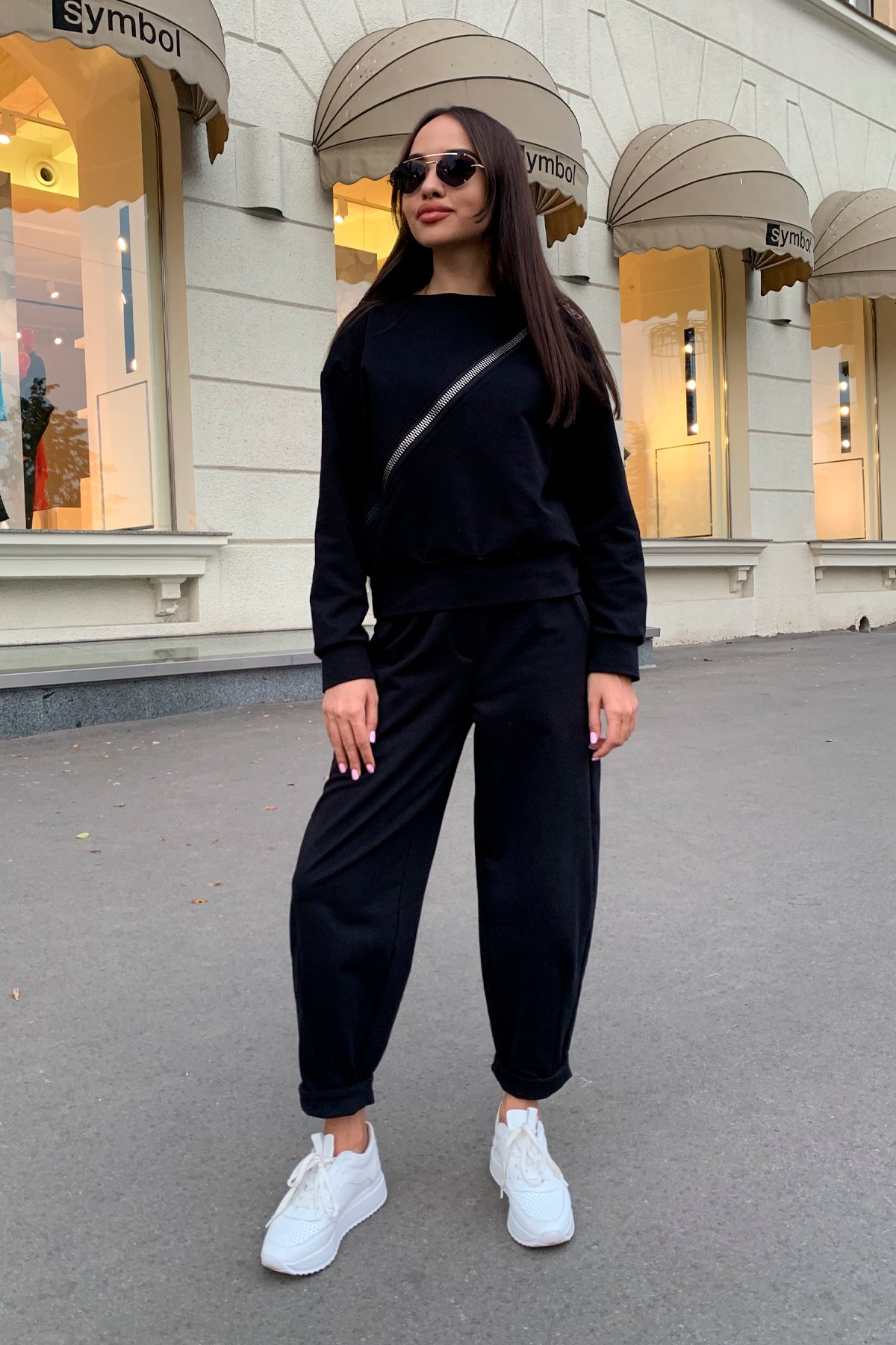 Дизель трикотаж 3х нитка костюм 9714 АРТ. 46019 Цвет: Черный - фото 6, интернет магазин tm-modus.ru