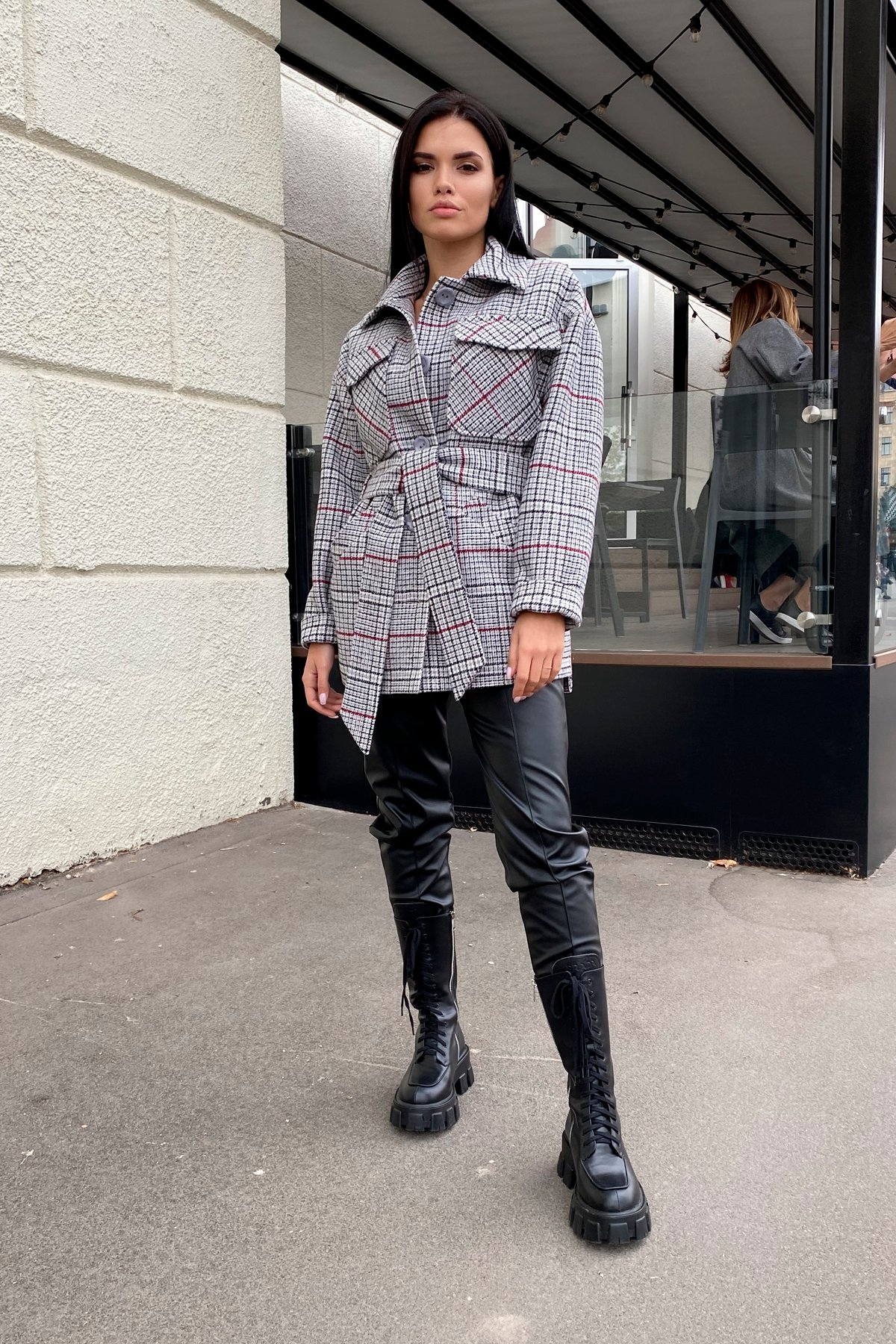 Купить женское пальто от Modus Энрике клетка крупная пальтовая ткань пальто 9036