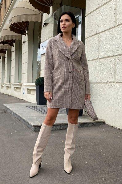 Купить Вейсона клетка комби пальтовая ткань пальто 9874 оптом и в розницу