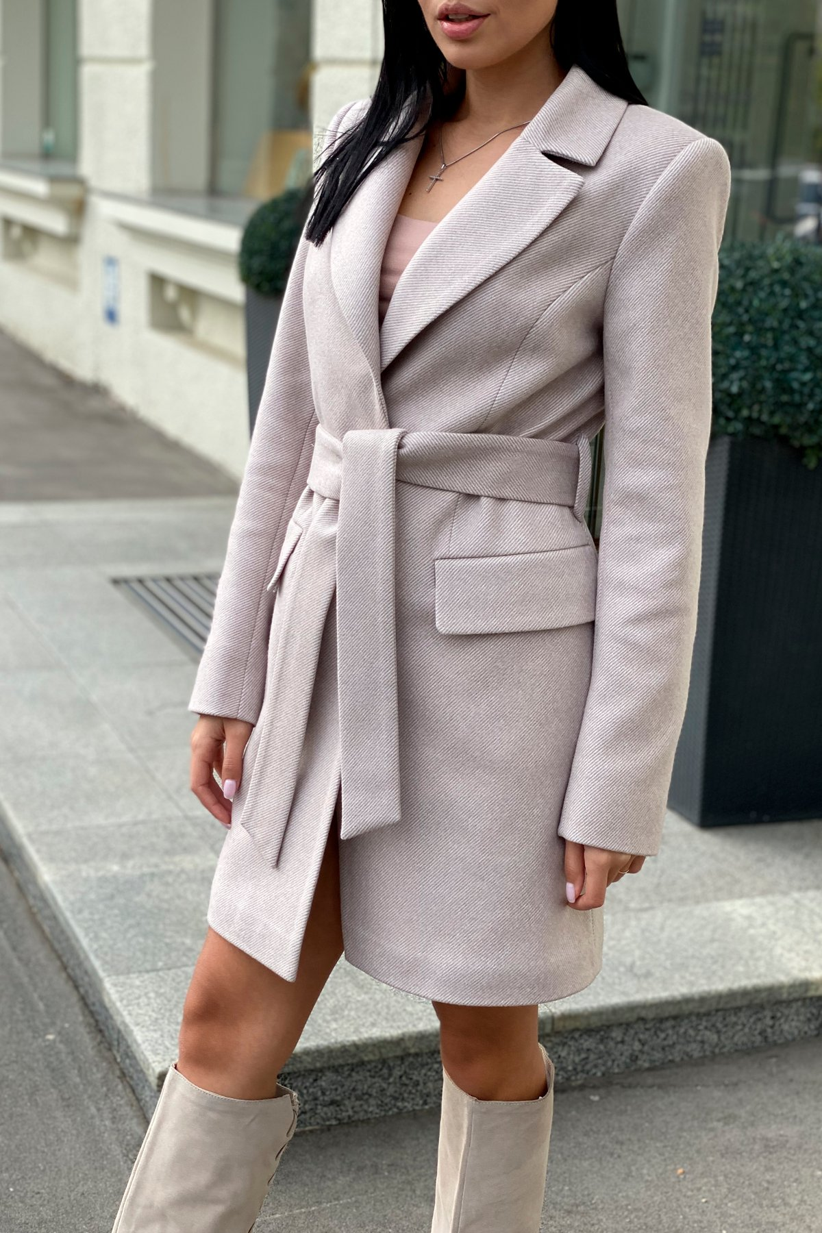 Корси диагональ пальтовая ткань пальто 9882 АРТ. 46168 Цвет: Бежевый Светлый 5 - фото 1, интернет магазин tm-modus.ru