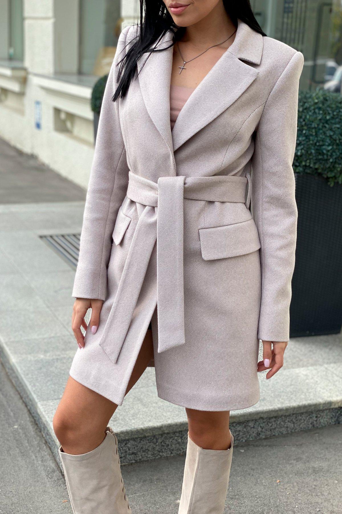 Корси диагональ пальтовая ткань пальто 9882 АРТ. 46168 Цвет: Бежевый Светлый 5 - фото 2, интернет магазин tm-modus.ru