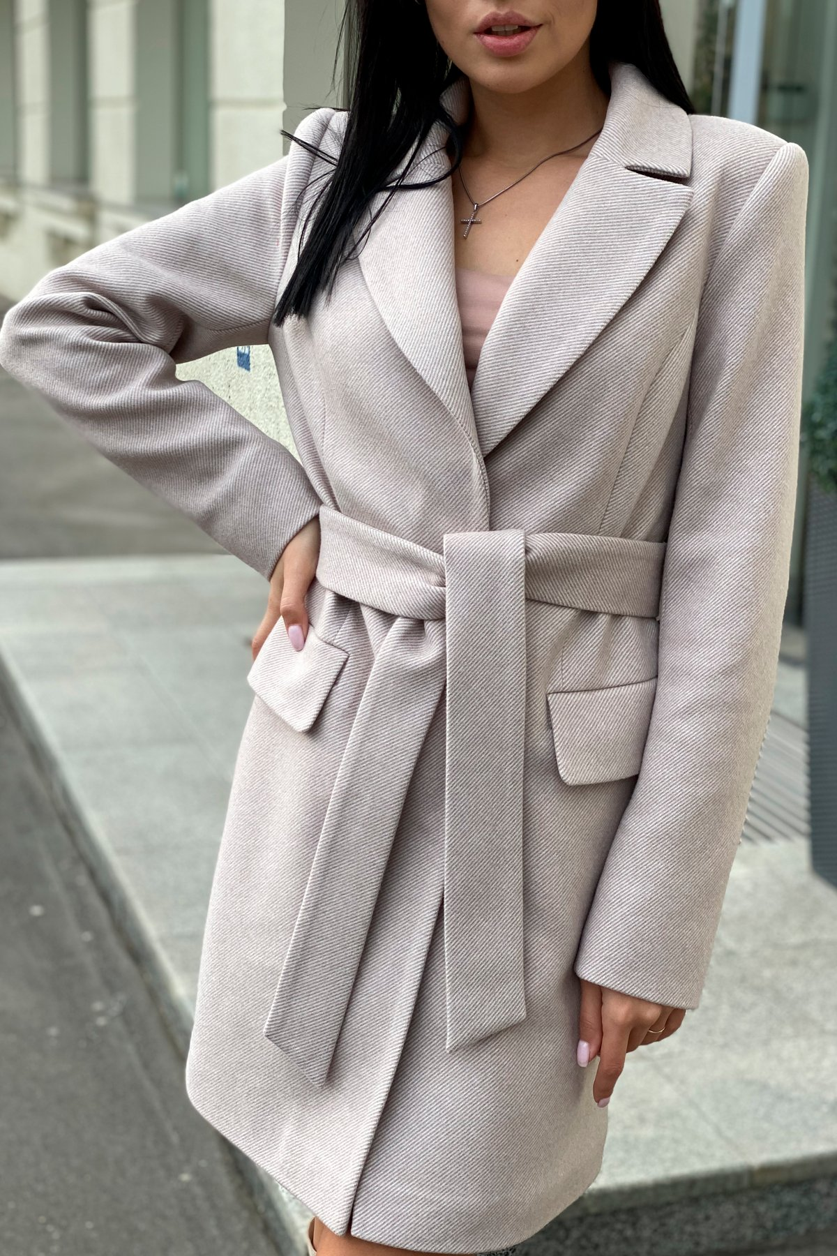 Корси диагональ пальтовая ткань пальто 9882 АРТ. 46168 Цвет: Бежевый Светлый 5 - фото 3, интернет магазин tm-modus.ru
