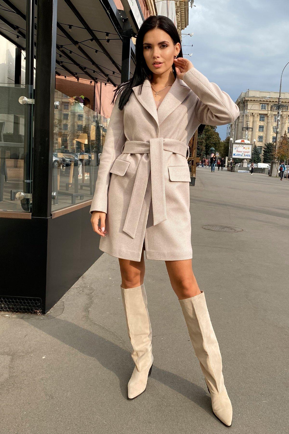 Корси диагональ пальтовая ткань пальто 9882 АРТ. 46168 Цвет: Бежевый Светлый 5 - фото 7, интернет магазин tm-modus.ru