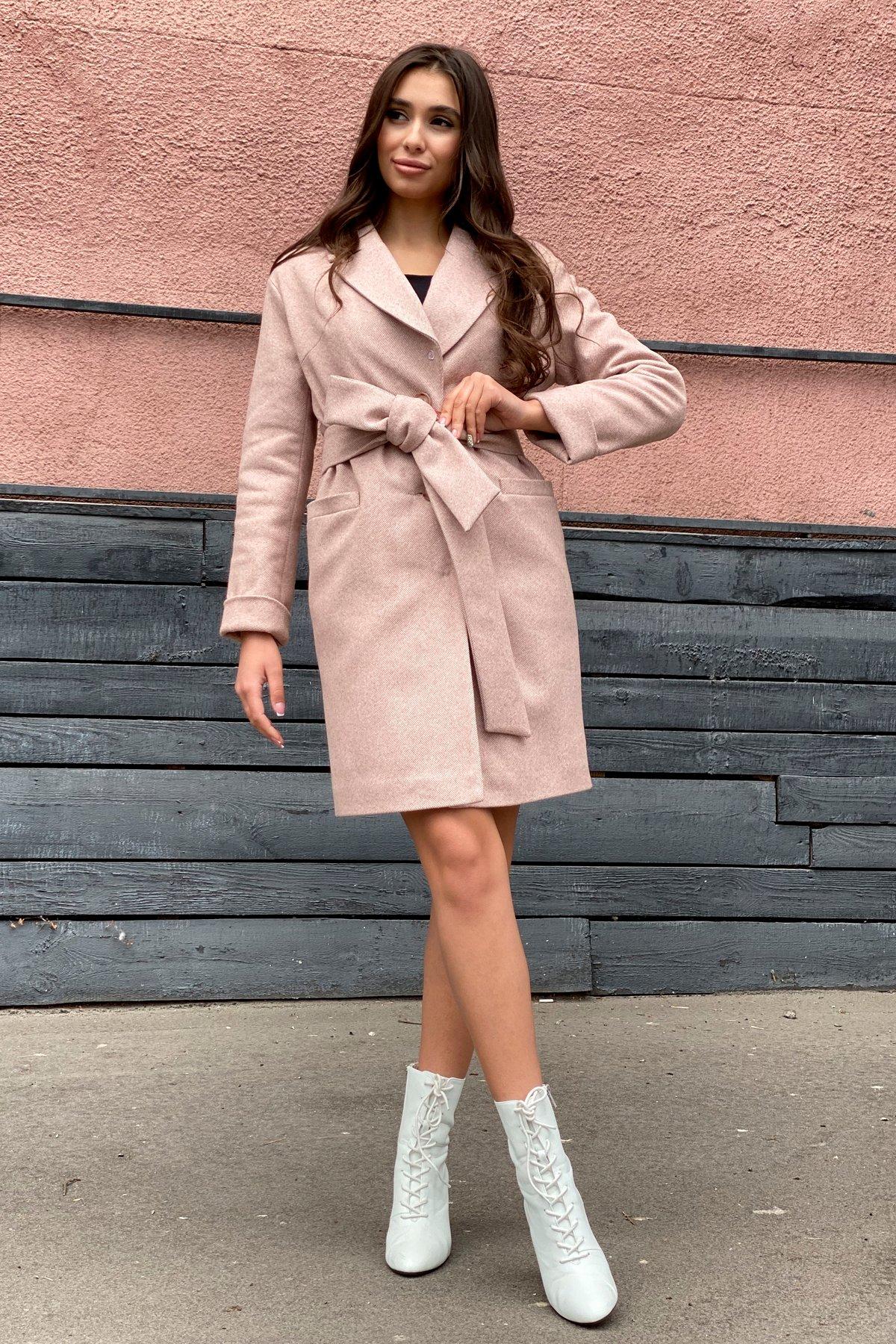 Зимнее утепленное пальто диагональ Вива 8243 АРТ. 44280 Цвет: Бежевый - фото 8, интернет магазин tm-modus.ru