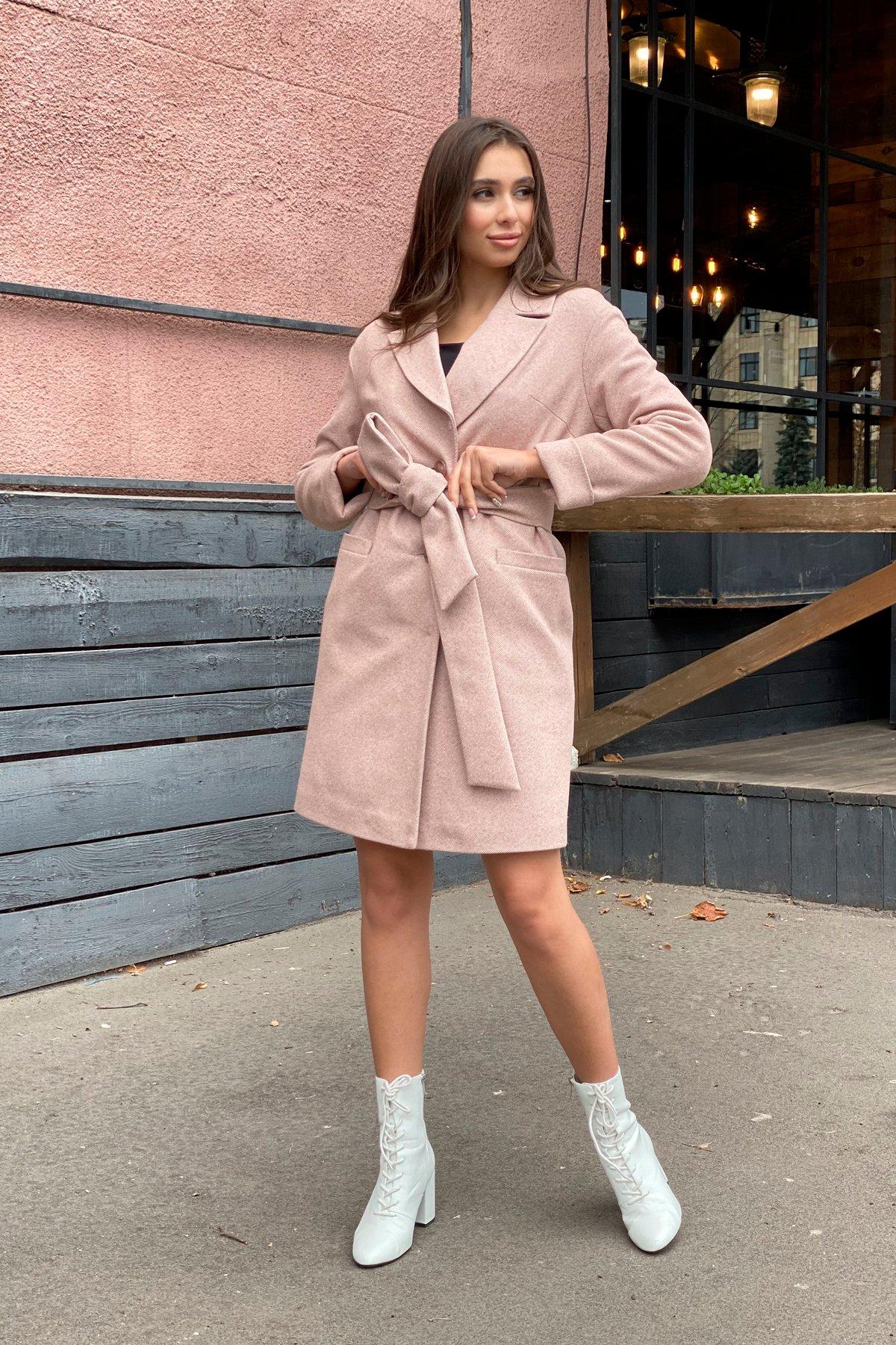 Зимнее утепленное пальто диагональ Вива 8243 АРТ. 44280 Цвет: Бежевый - фото 14, интернет магазин tm-modus.ru