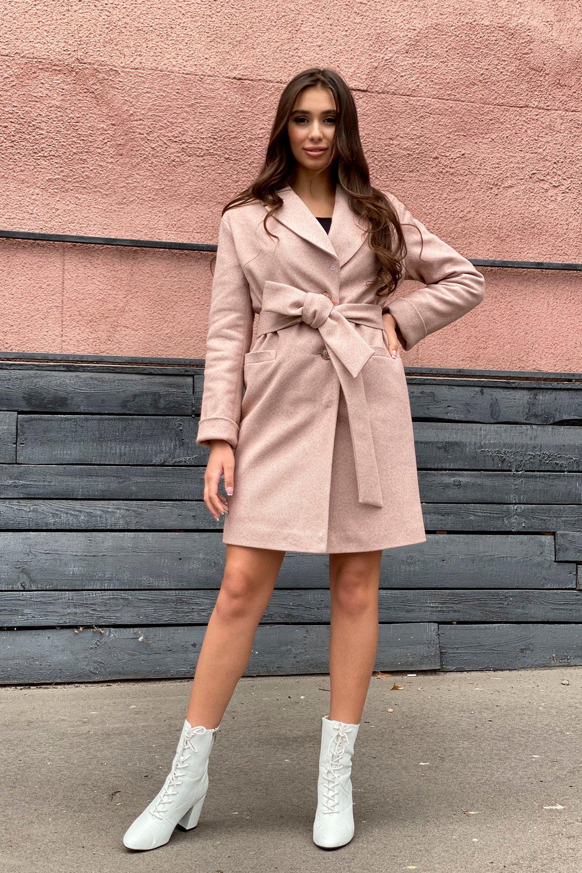 Зимнее утепленное пальто диагональ Вива 8243 АРТ. 44280 Цвет: Бежевый - фото 12, интернет магазин tm-modus.ru