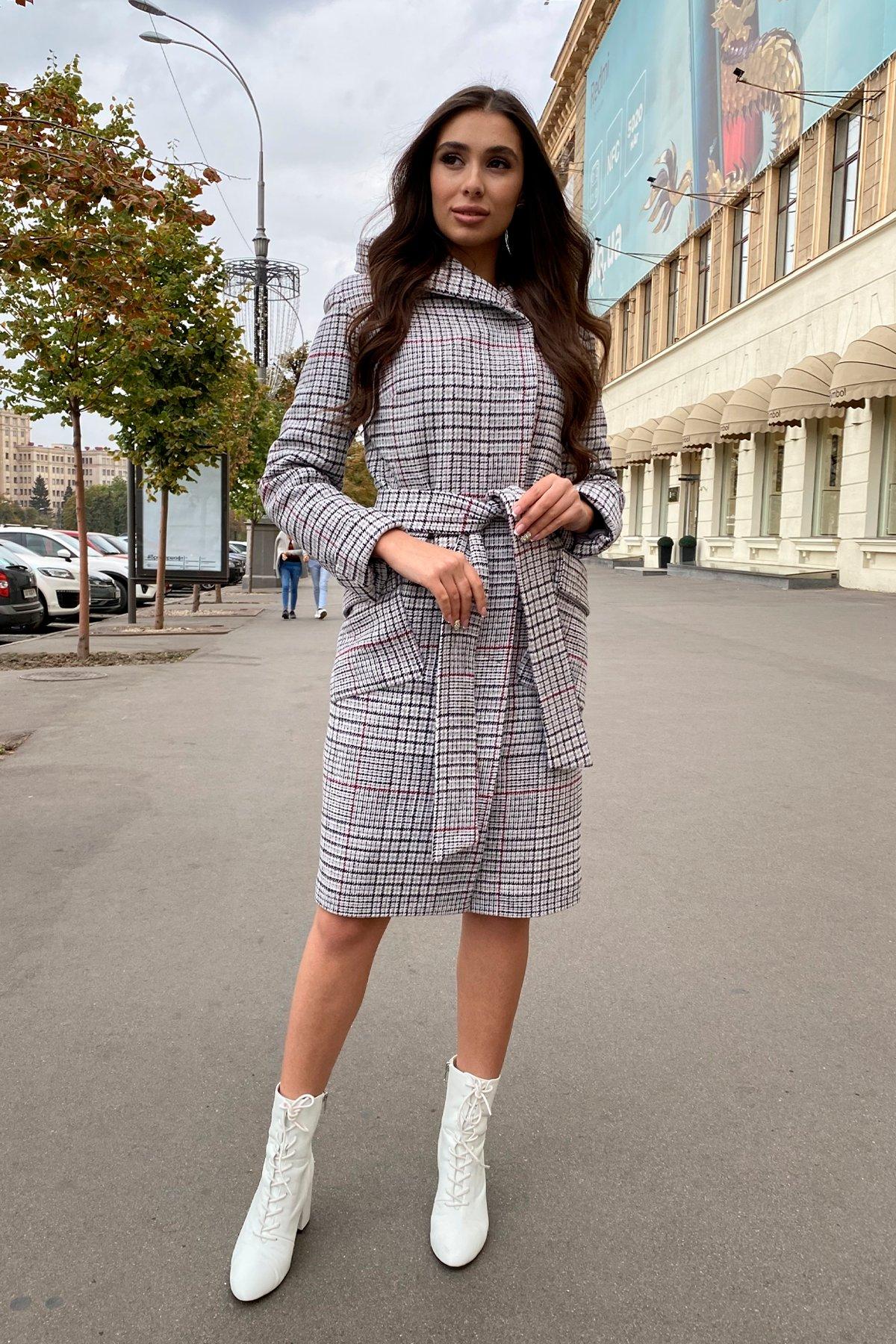 Зимнее пальто в стильную клетку Анджи 8276 АРТ. 44724 Цвет: Клетка кр черн/сер/вин - фото 17, интернет магазин tm-modus.ru