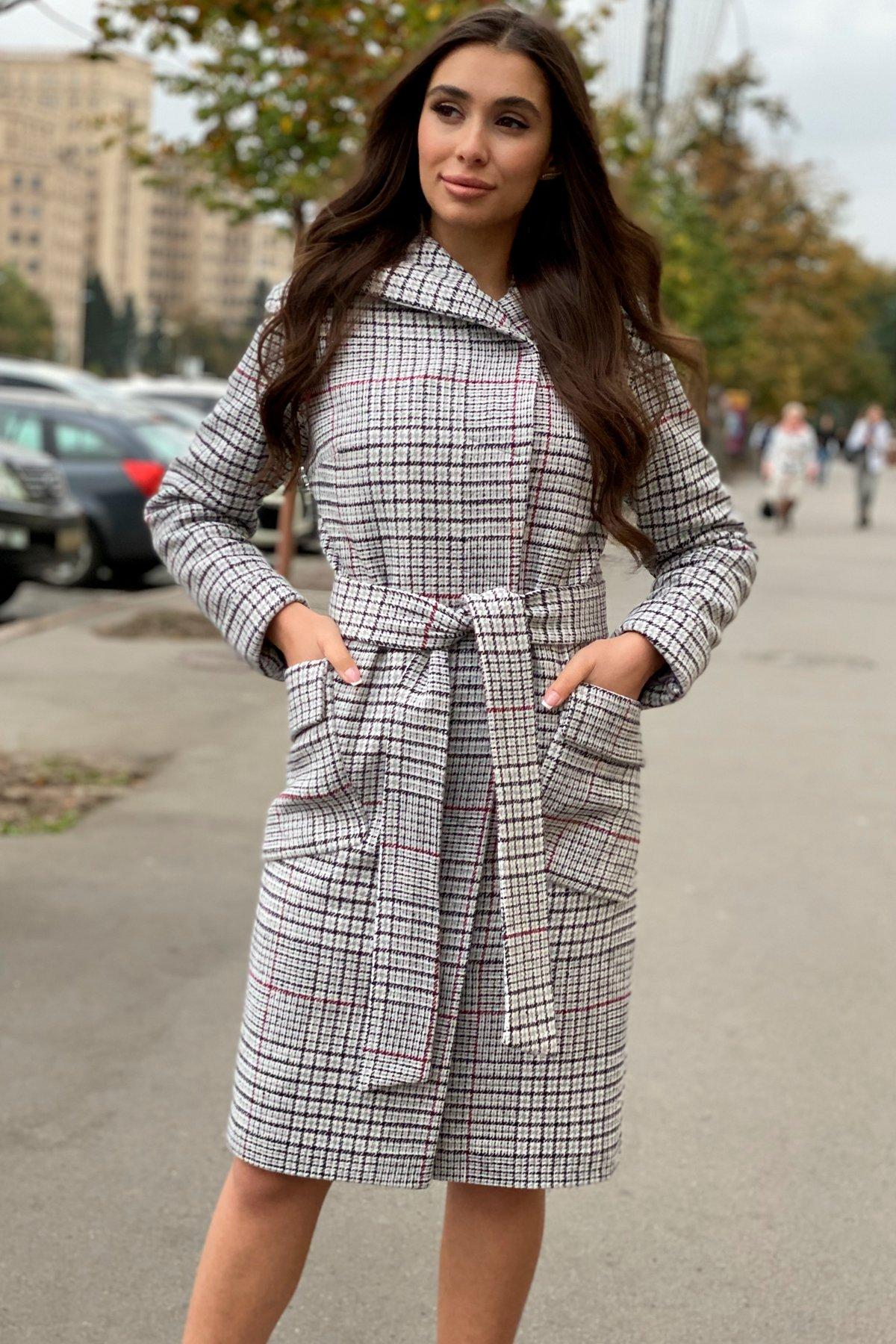 Зимнее пальто в стильную клетку Анджи 8276 АРТ. 44724 Цвет: Клетка кр черн/сер/вин - фото 6, интернет магазин tm-modus.ru