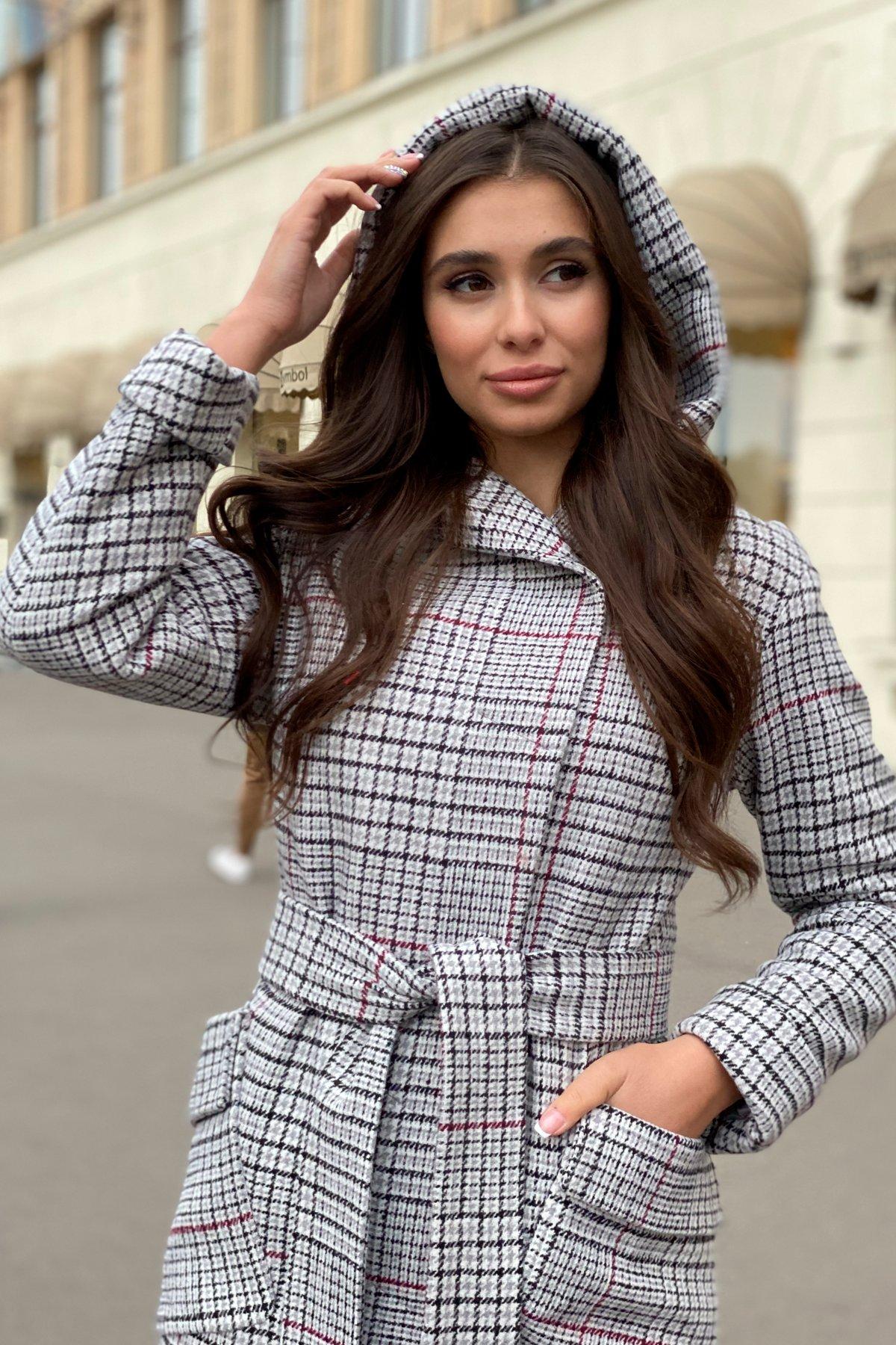 Зимнее пальто в стильную клетку Анджи 8276 АРТ. 44724 Цвет: Клетка кр черн/сер/вин - фото 12, интернет магазин tm-modus.ru