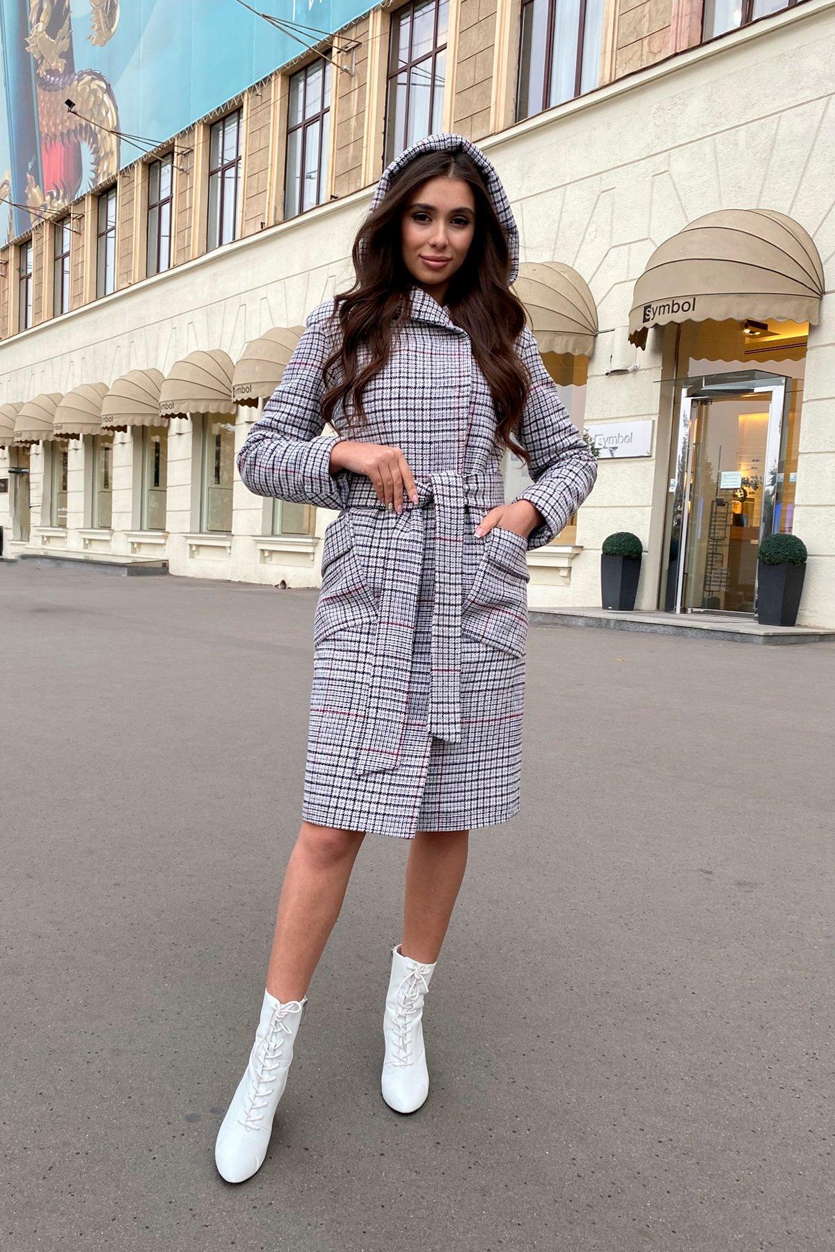 Зимнее пальто в стильную клетку Анджи 8276 АРТ. 44724 Цвет: Клетка кр черн/сер/вин - фото 20, интернет магазин tm-modus.ru