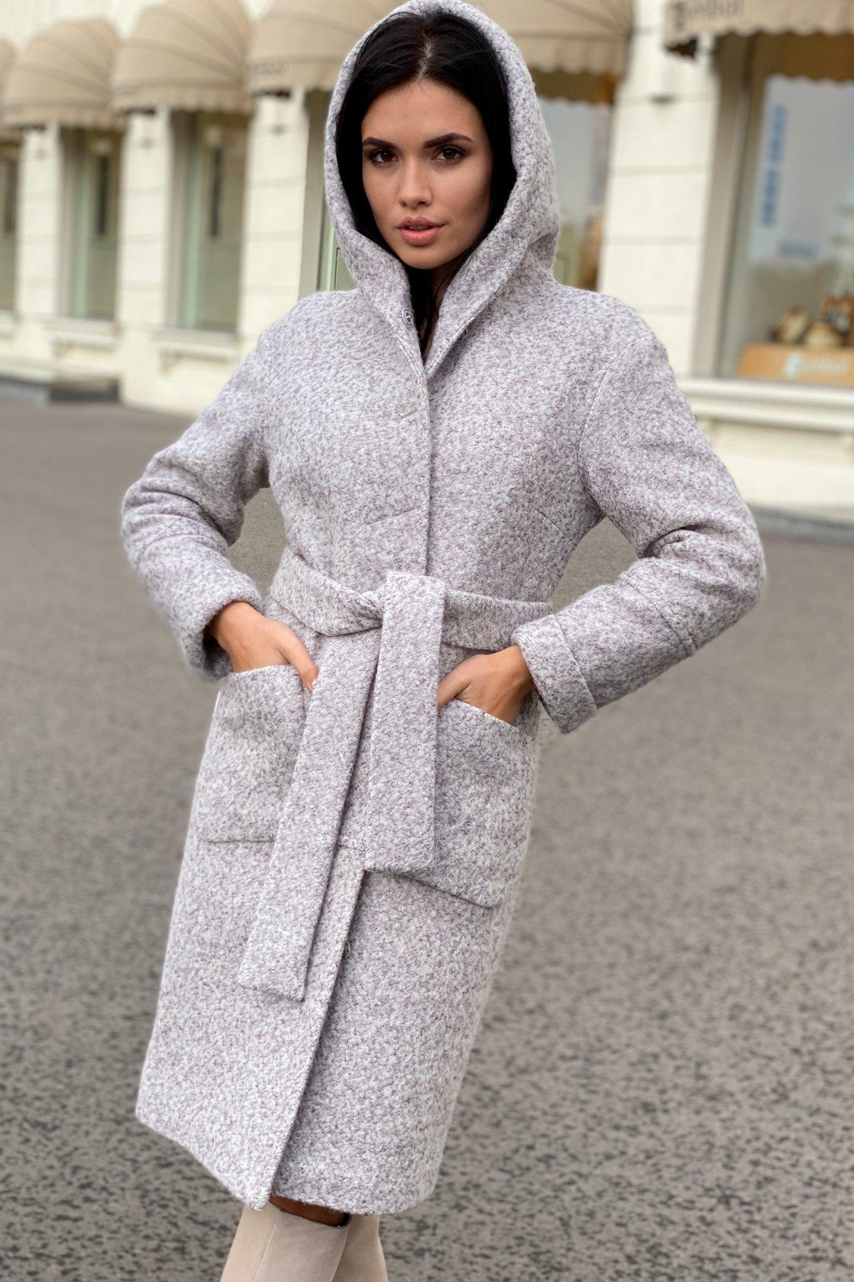 Пальто зима шерсть букле Анита 8320 АРТ. 44439 Цвет: Серый/бежевый 24 - фото 2, интернет магазин tm-modus.ru