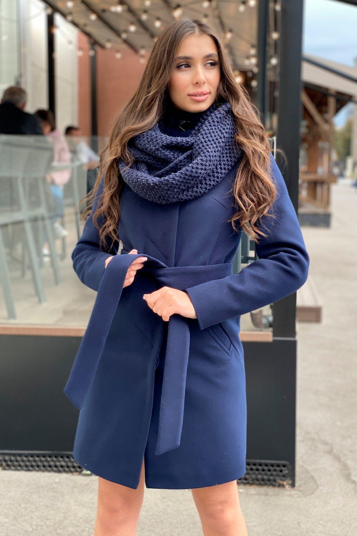 Пальто зима с хомутом Люцея 8211 АРТ. 44224 Цвет: Т.синий Н-14 - фото 10, интернет магазин tm-modus.ru