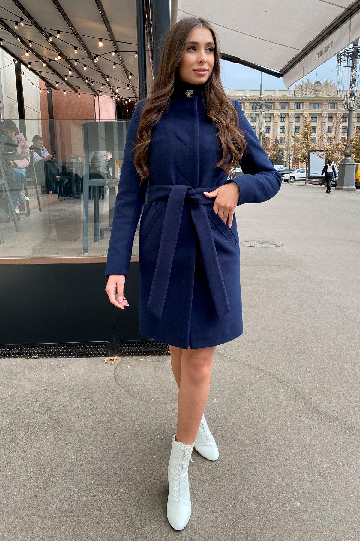 Пальто зима с хомутом Люцея 8211 АРТ. 44224 Цвет: Т.синий Н-14 - фото 14, интернет магазин tm-modus.ru