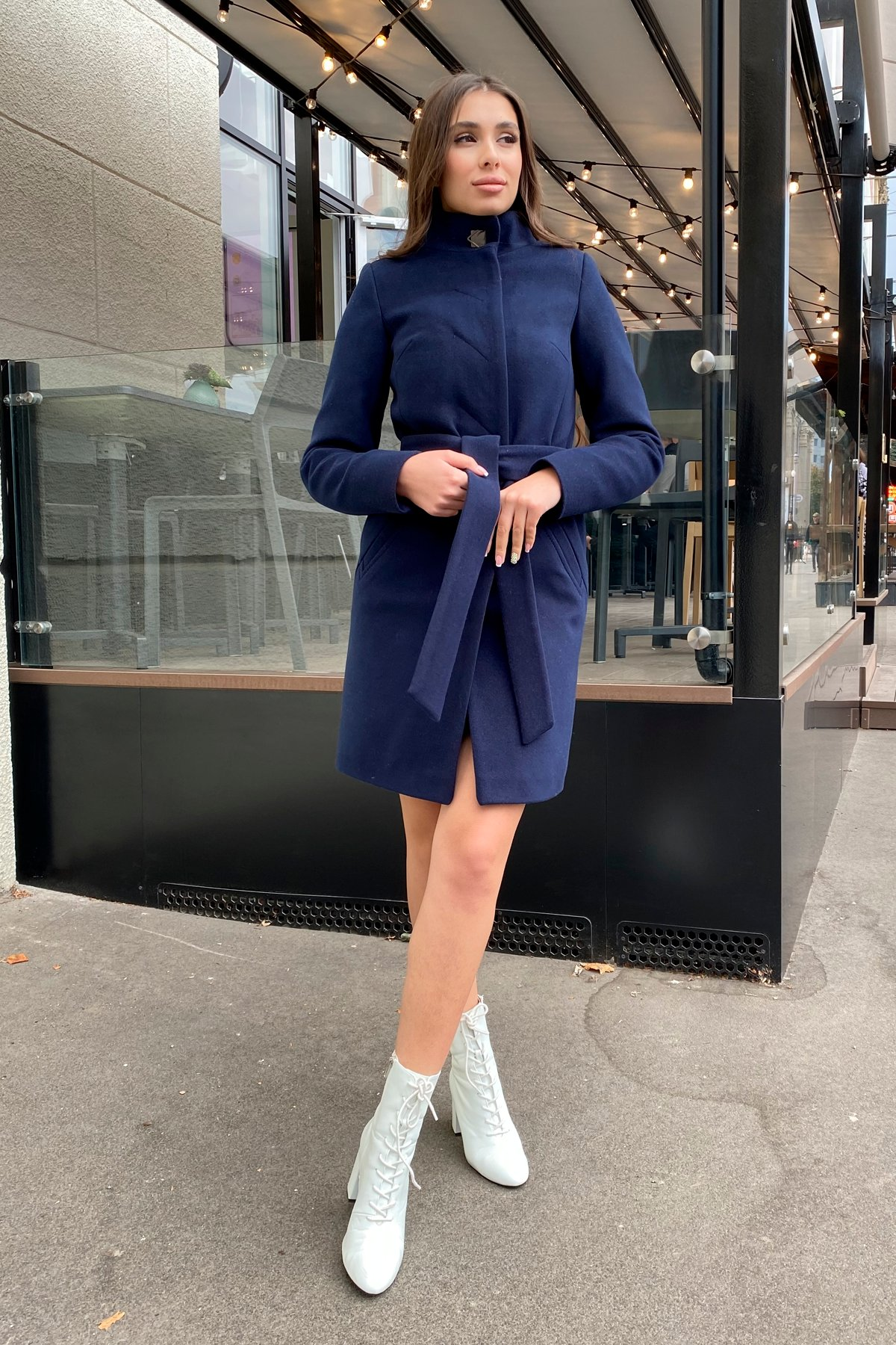 Пальто зима с хомутом Люцея 8211 АРТ. 44224 Цвет: Т.синий Н-14 - фото 18, интернет магазин tm-modus.ru