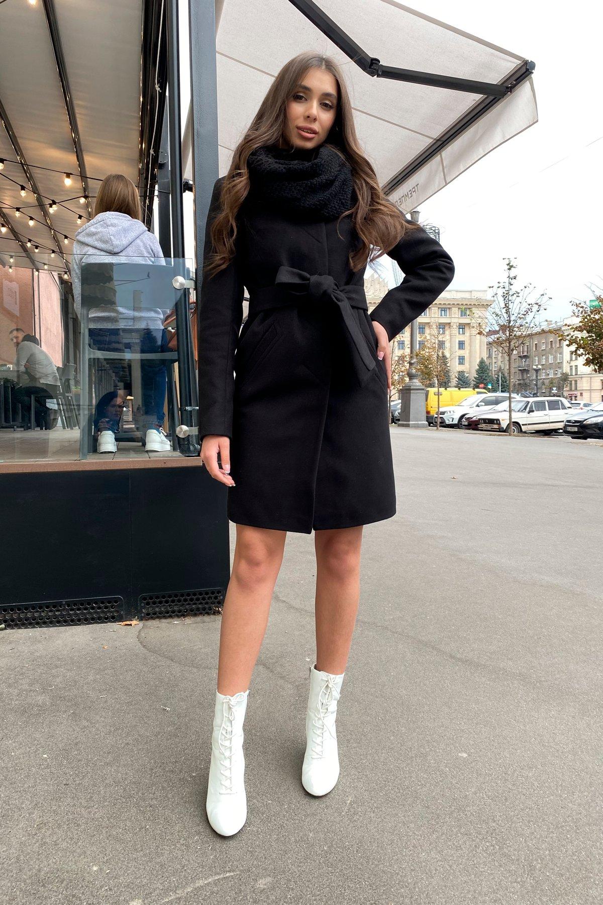 Пальто зима с хомутом Люцея 8211 АРТ. 44225 Цвет: Черный Н-1 - фото 4, интернет магазин tm-modus.ru