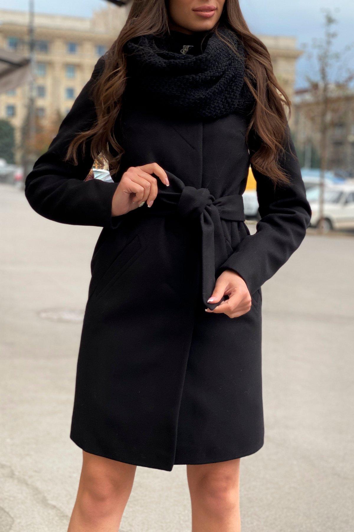Пальто зима с хомутом Люцея 8211 АРТ. 44225 Цвет: Черный Н-1 - фото 10, интернет магазин tm-modus.ru