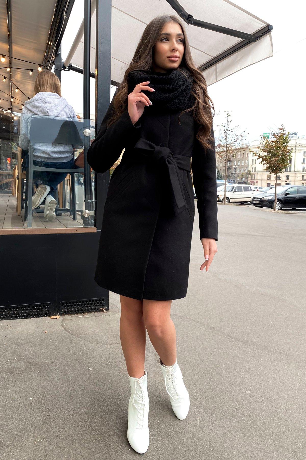 Пальто зима с хомутом Люцея 8211 АРТ. 44225 Цвет: Черный Н-1 - фото 8, интернет магазин tm-modus.ru