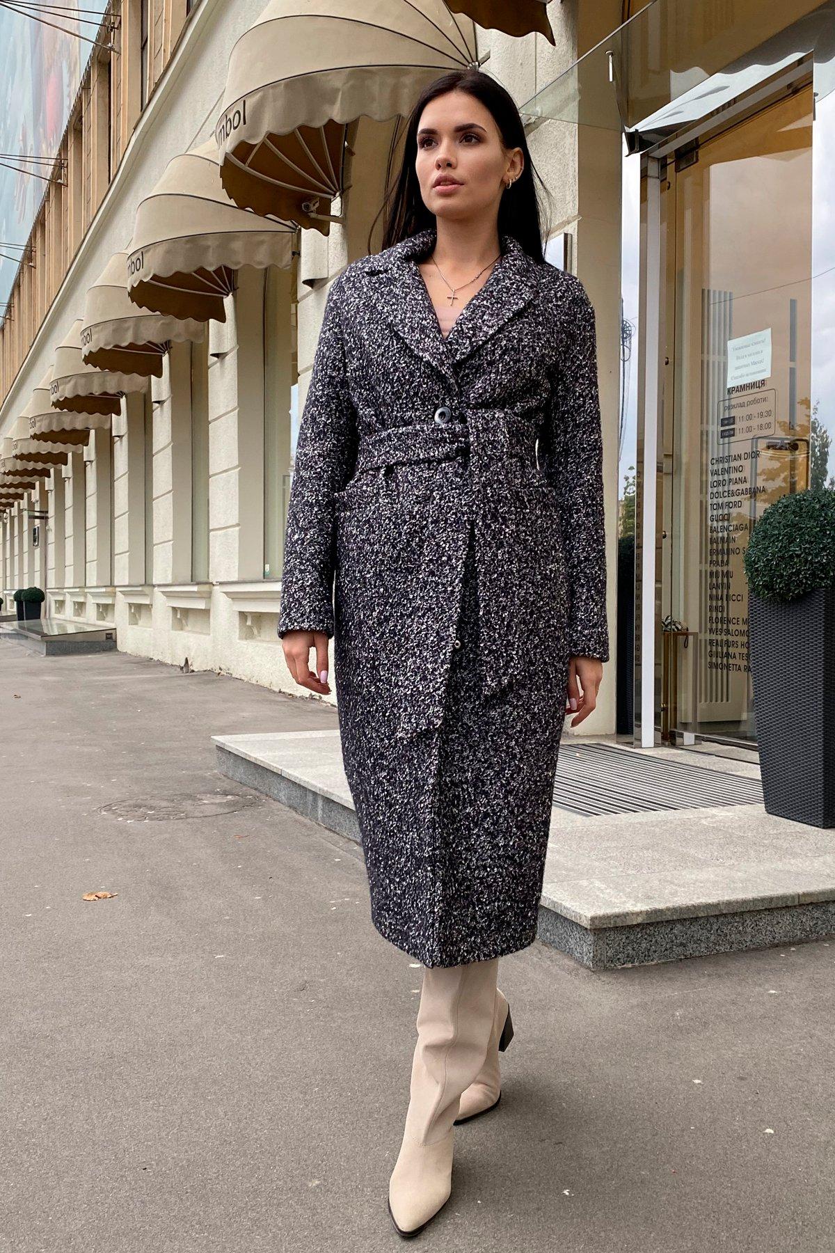 Теплое зимнее пальто буклированная шерсть Вива макси 8349 АРТ. 44517 Цвет: Черный/серый 61 - фото 10, интернет магазин tm-modus.ru