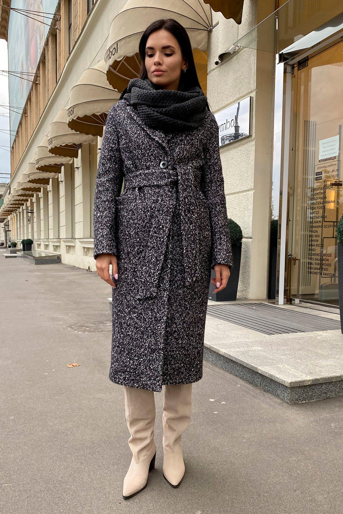 Теплое зимнее пальто буклированная шерсть Вива макси 8349 АРТ. 44517 Цвет: Черный/серый 61 - фото 16, интернет магазин tm-modus.ru