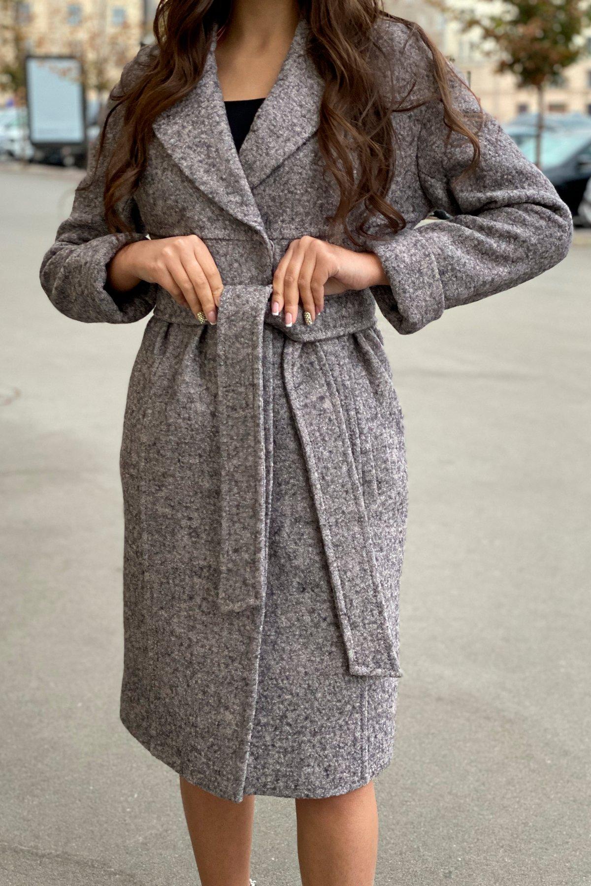 Пальто весна-осень c приспущенной линией плеча Фентези лайт 6365 АРТ. 41230 Цвет: Серо-розовый LW-25 - фото 1, интернет магазин tm-modus.ru
