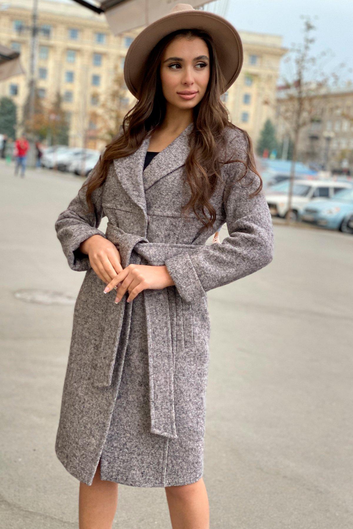 Пальто весна-осень c приспущенной линией плеча Фентези лайт 6365 АРТ. 41230 Цвет: Серо-розовый LW-25 - фото 4, интернет магазин tm-modus.ru