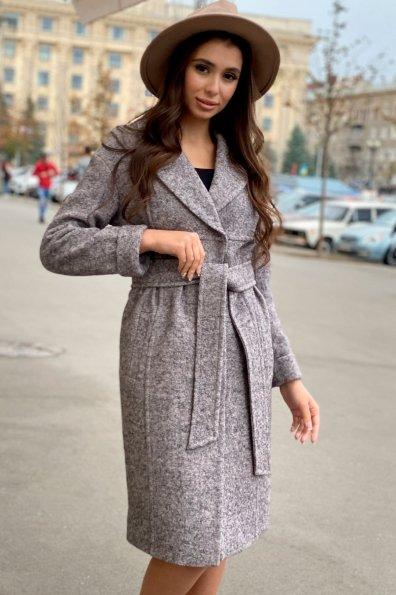 Пальто весна-осень c приспущенной линией плеча Фентези лайт 6365 Цвет: Серо-розовый LW-25