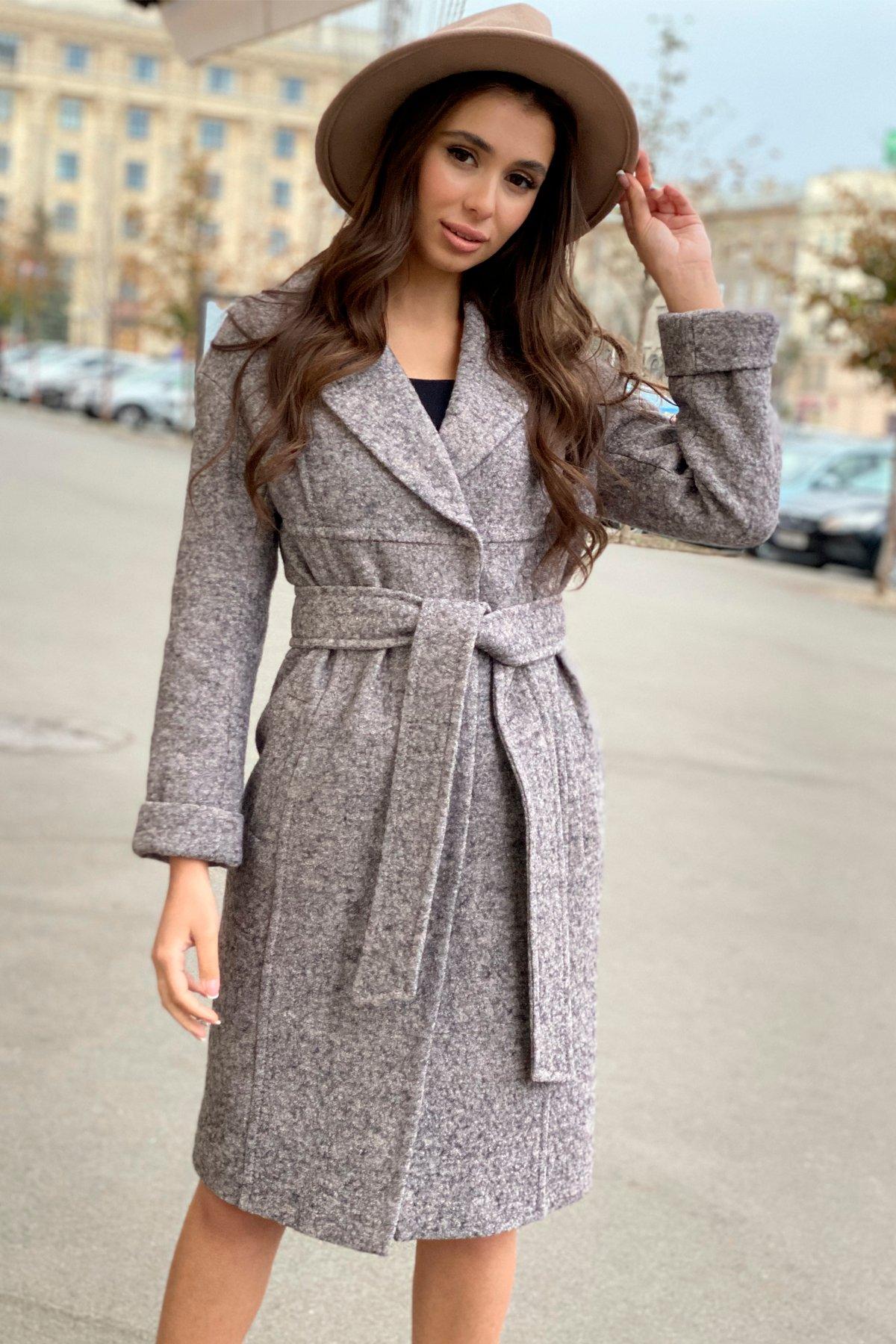 Пальто весна-осень c приспущенной линией плеча Фентези лайт 6365 АРТ. 41230 Цвет: Серо-розовый LW-25 - фото 10, интернет магазин tm-modus.ru